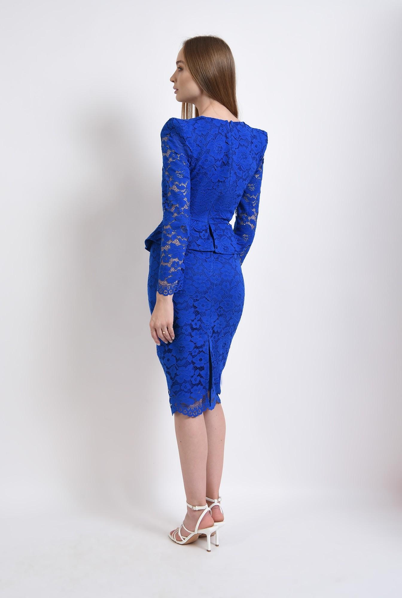 2 - 360 - rochie albastra, eleganta, din dantela