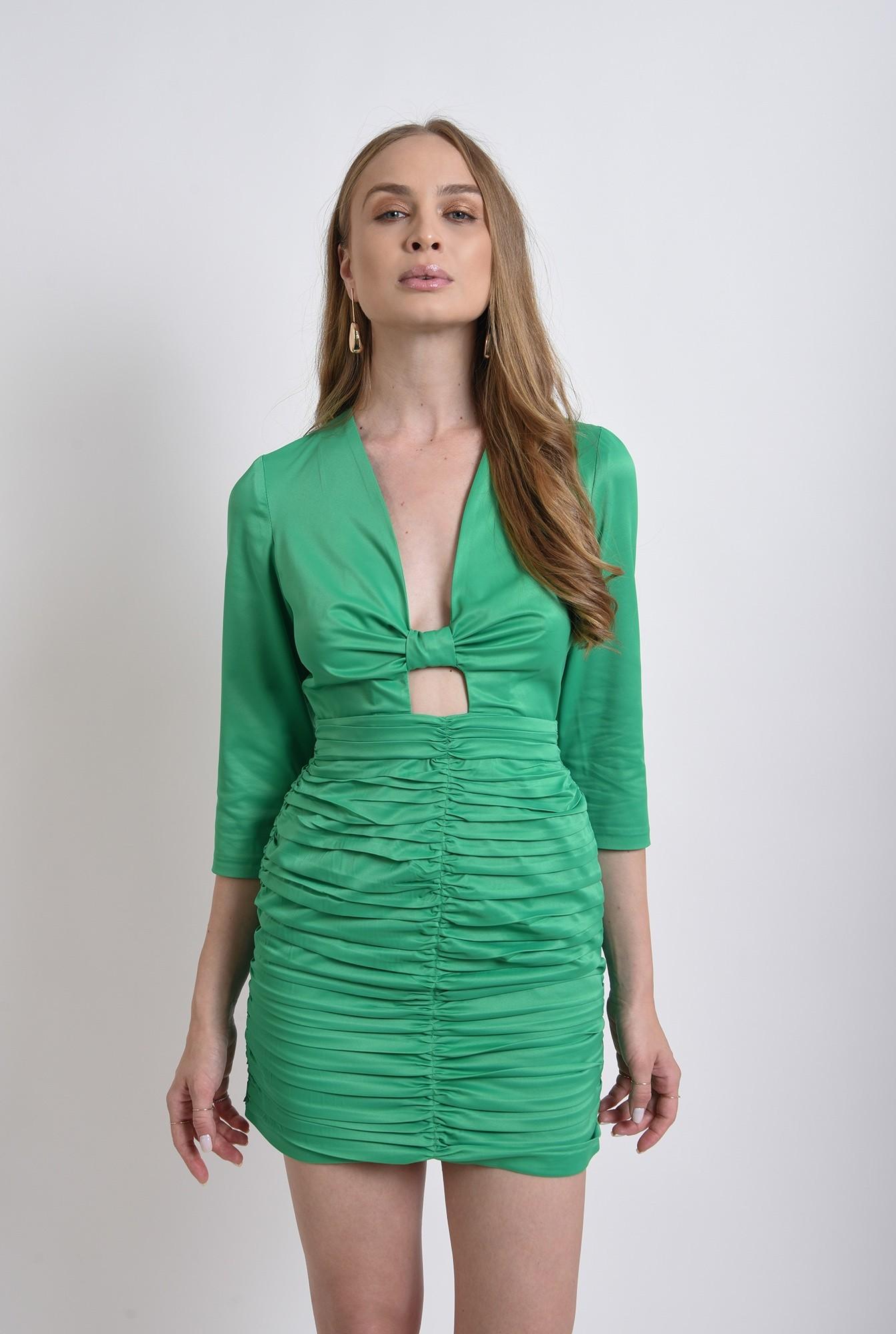 0 - rochie eleganta, mini, verde, Poema