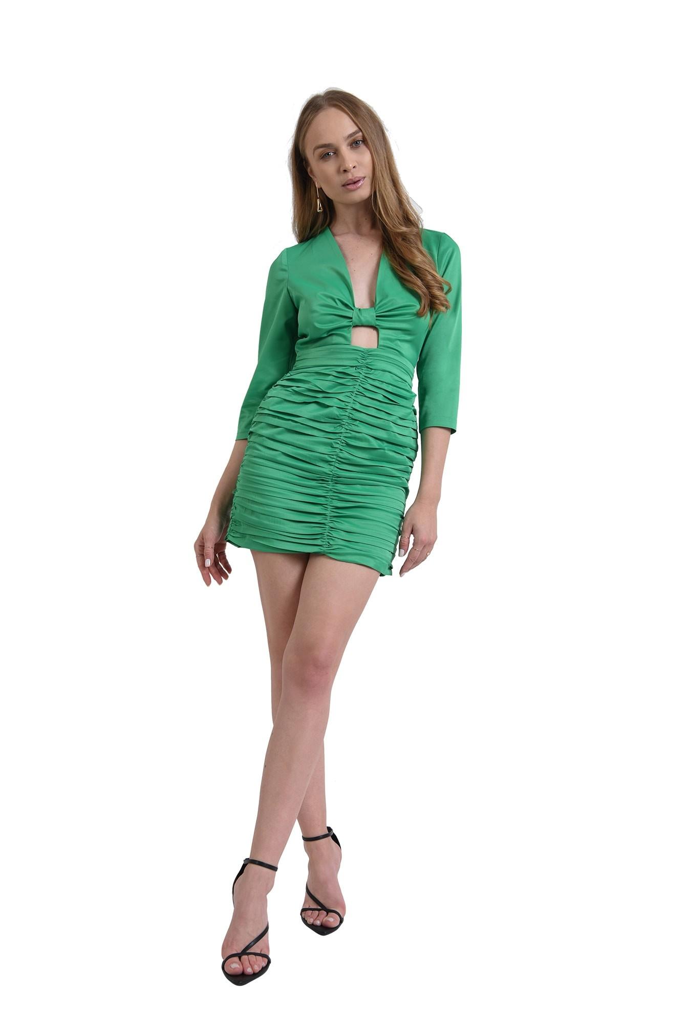 3 - rochie eleganta, mini, verde, Poema