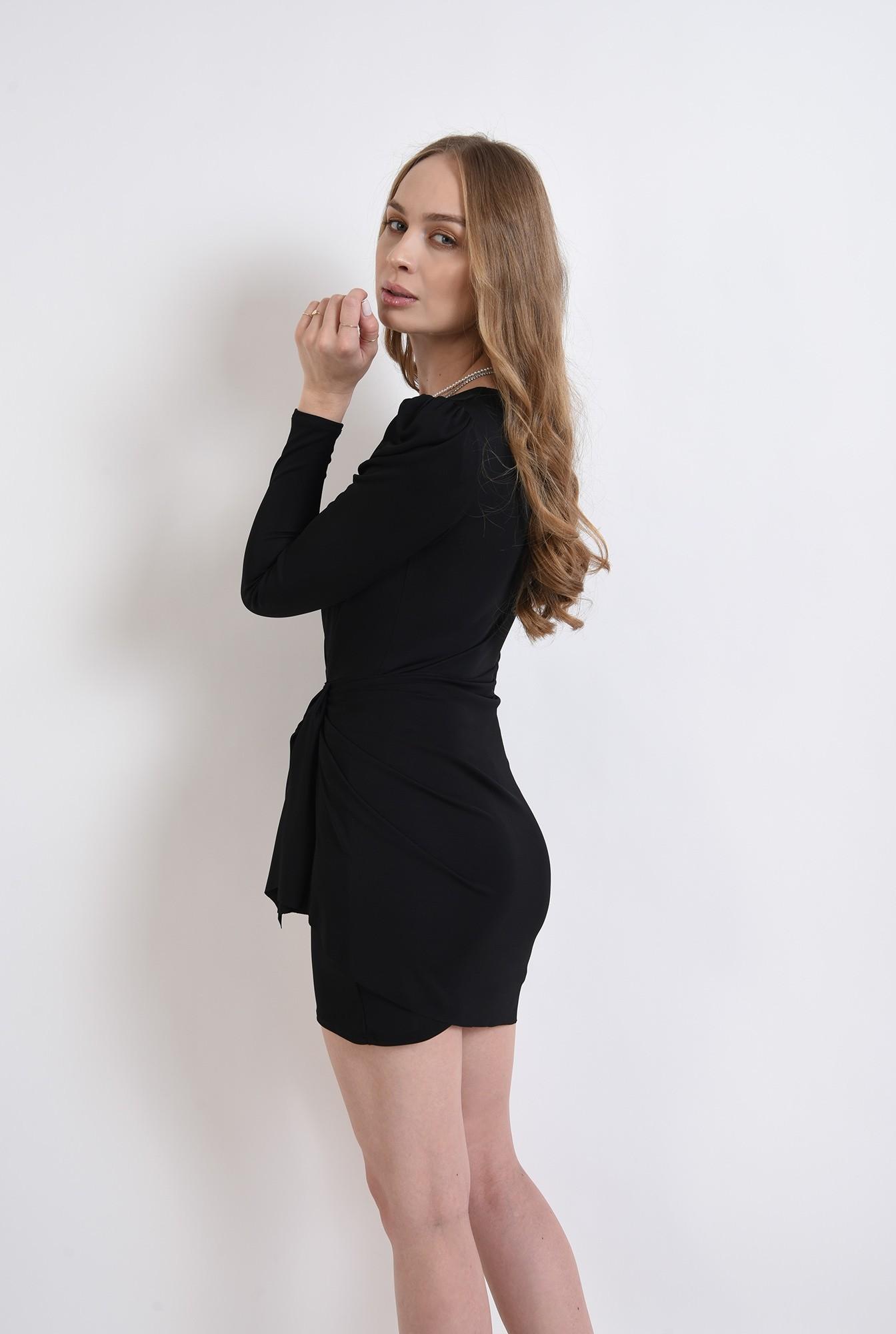 2 - rochie scurta, decoltata, din lycra
