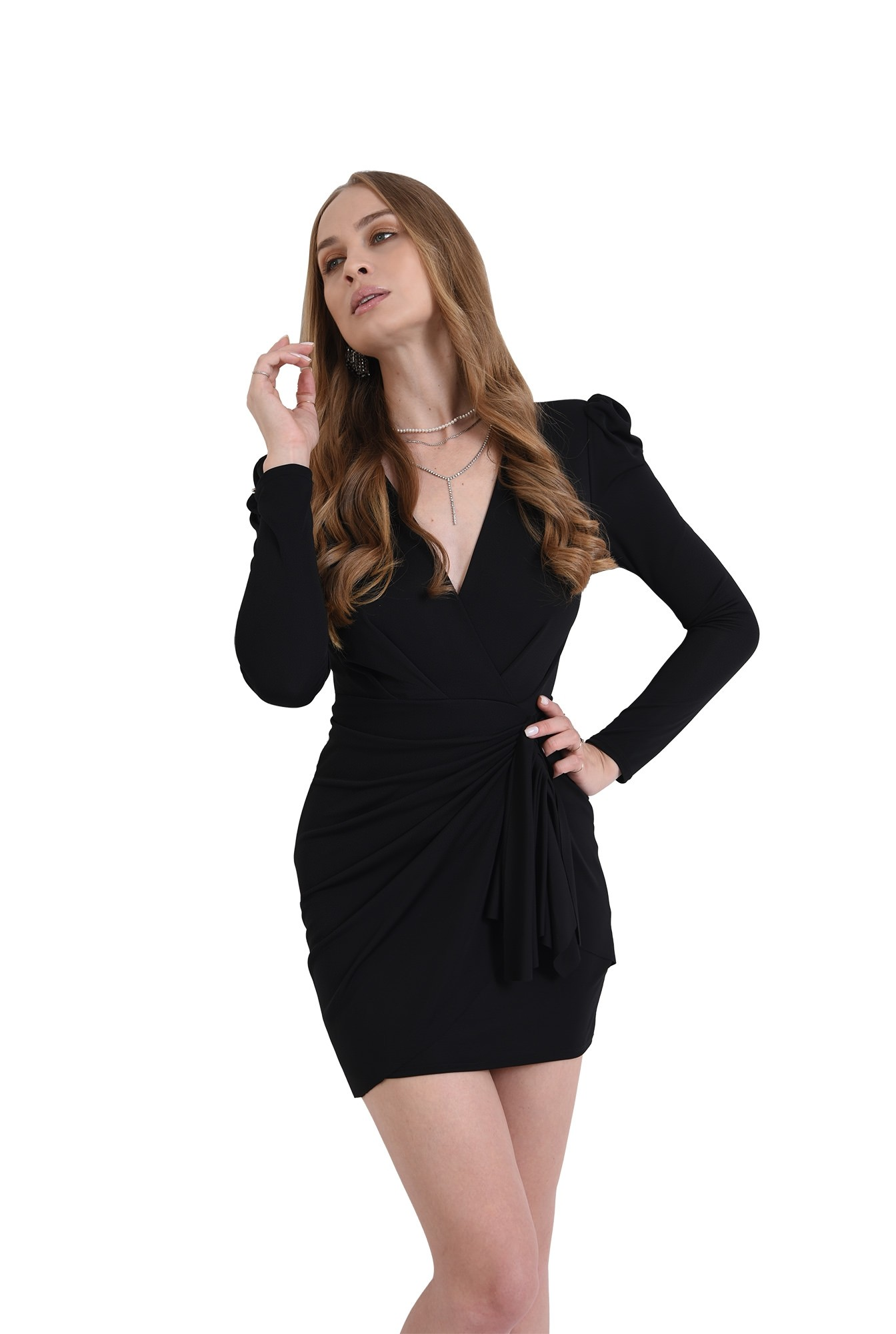 3 - rochie scurta, decoltata, din lycra