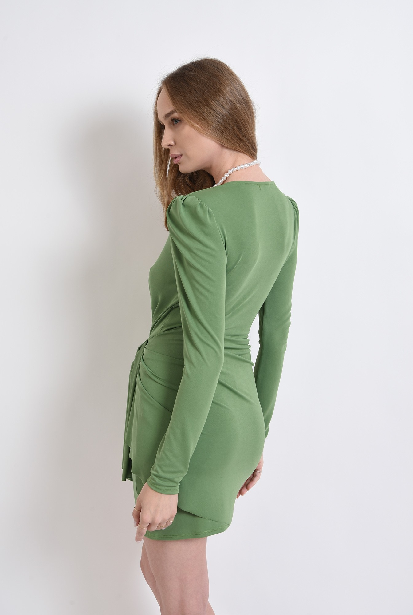 2 - rochie asimetrica, cu maneca lunga, Poema