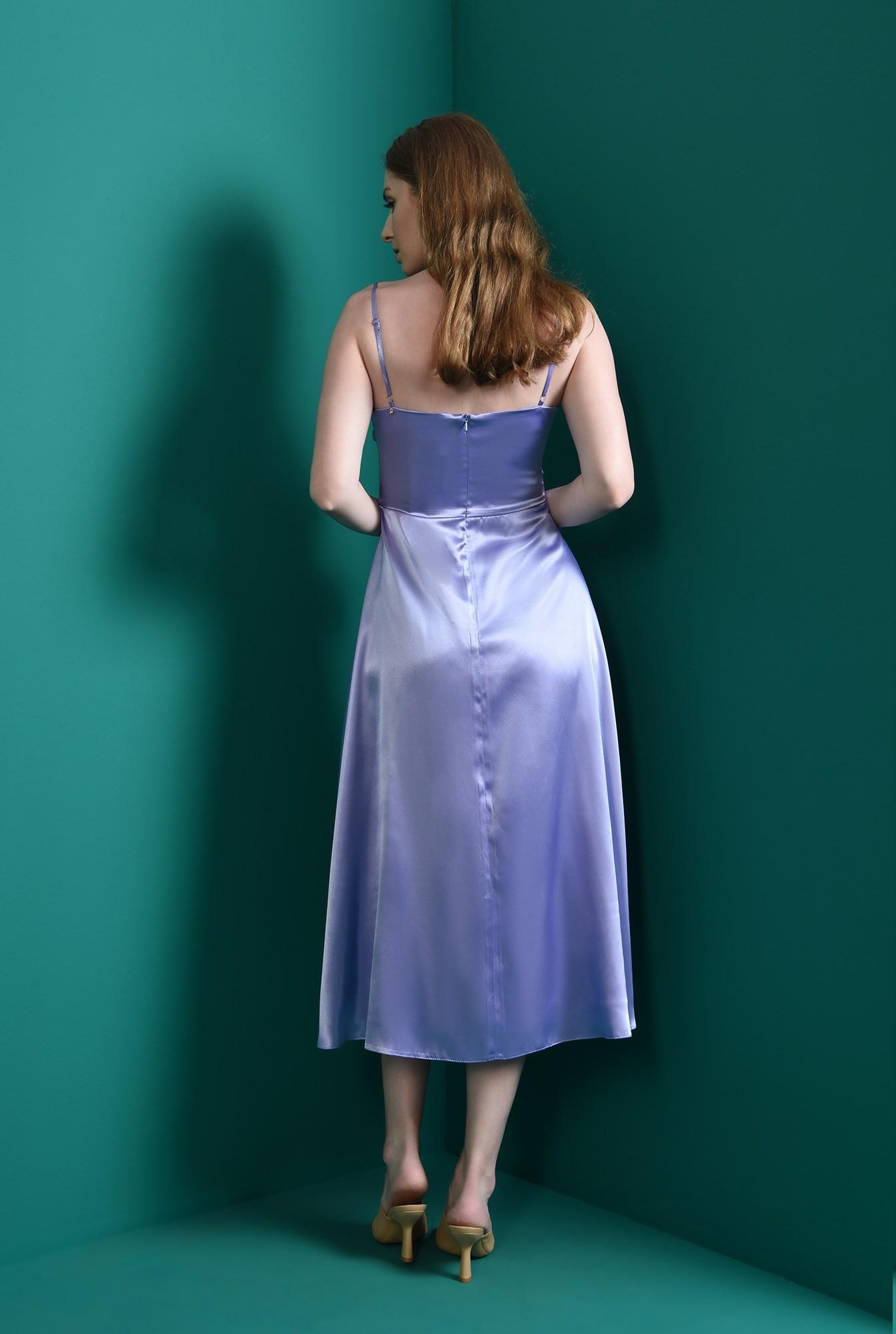 2 - rochie eleganta, lila, fronsata, Poema