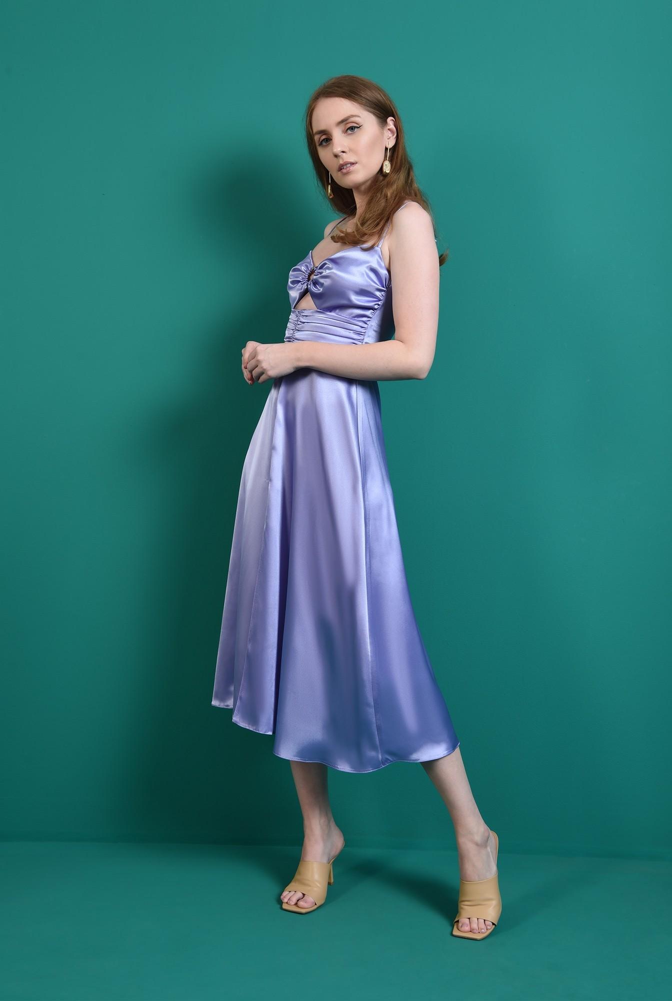 0 - rochie eleganta, lila, fronsata, Poema