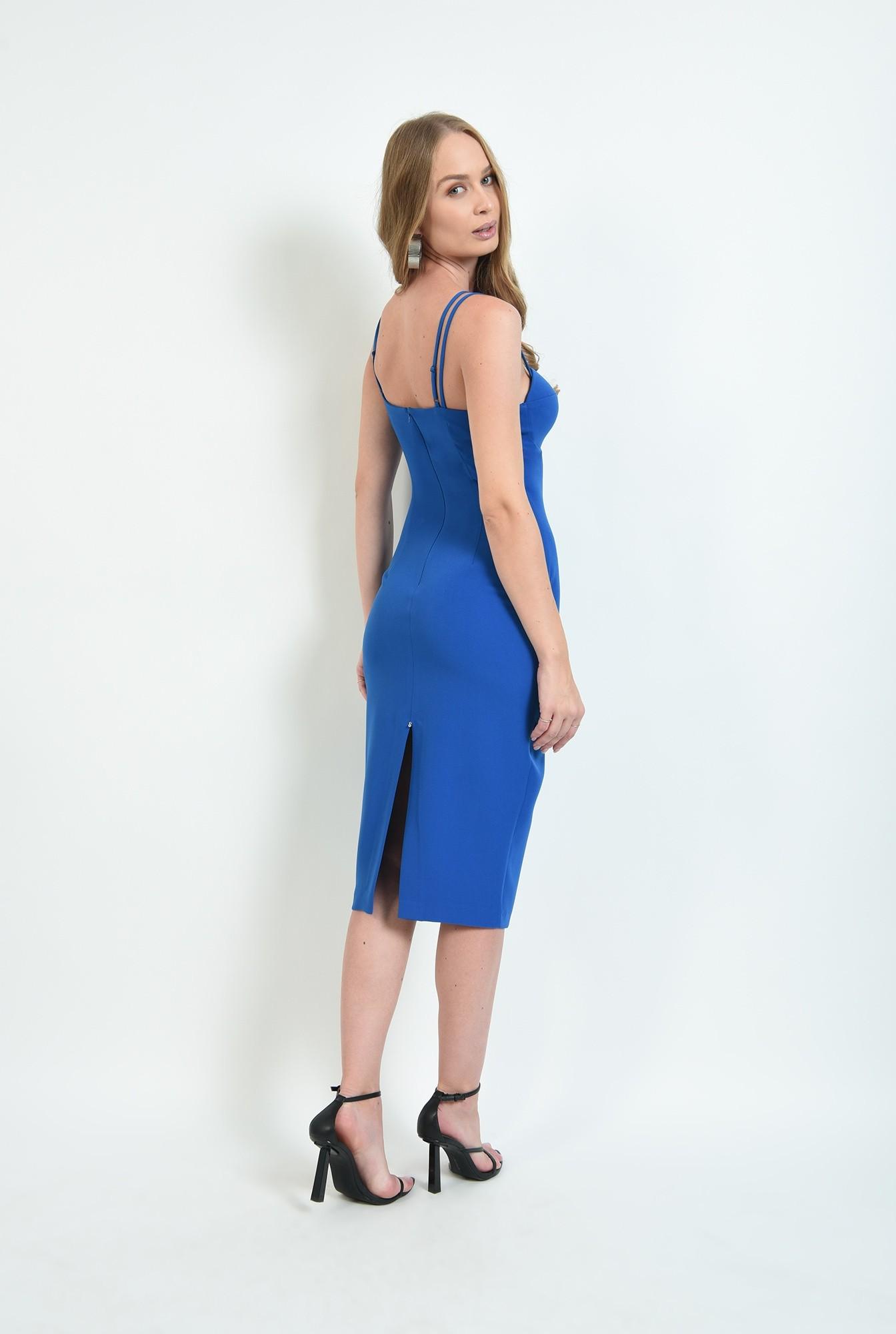 2 - rochie eleganta, conica, cu bretele subtiri