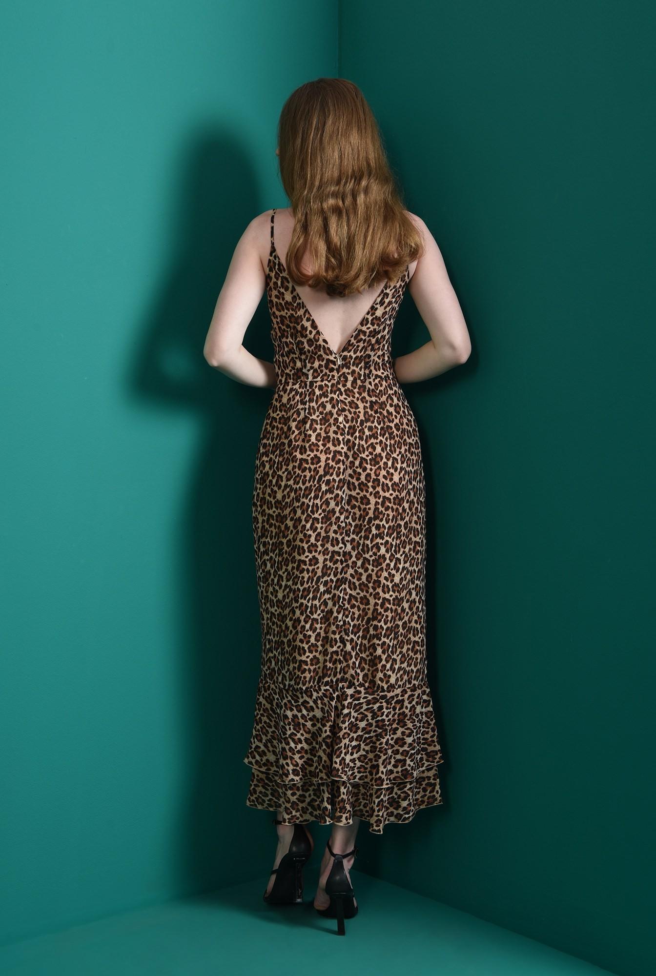 2 - rochie din voal, cu bretele subtiri, cu decolteu in V