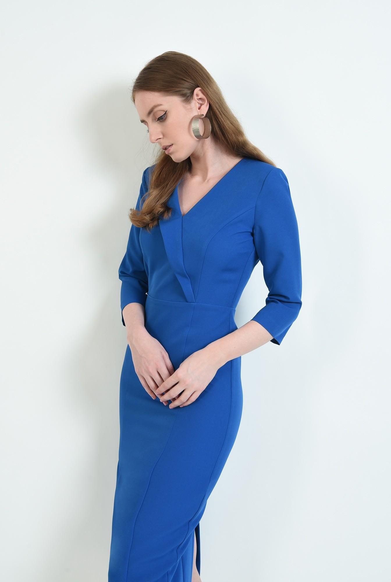 0 - rochie albastra, midi, conica