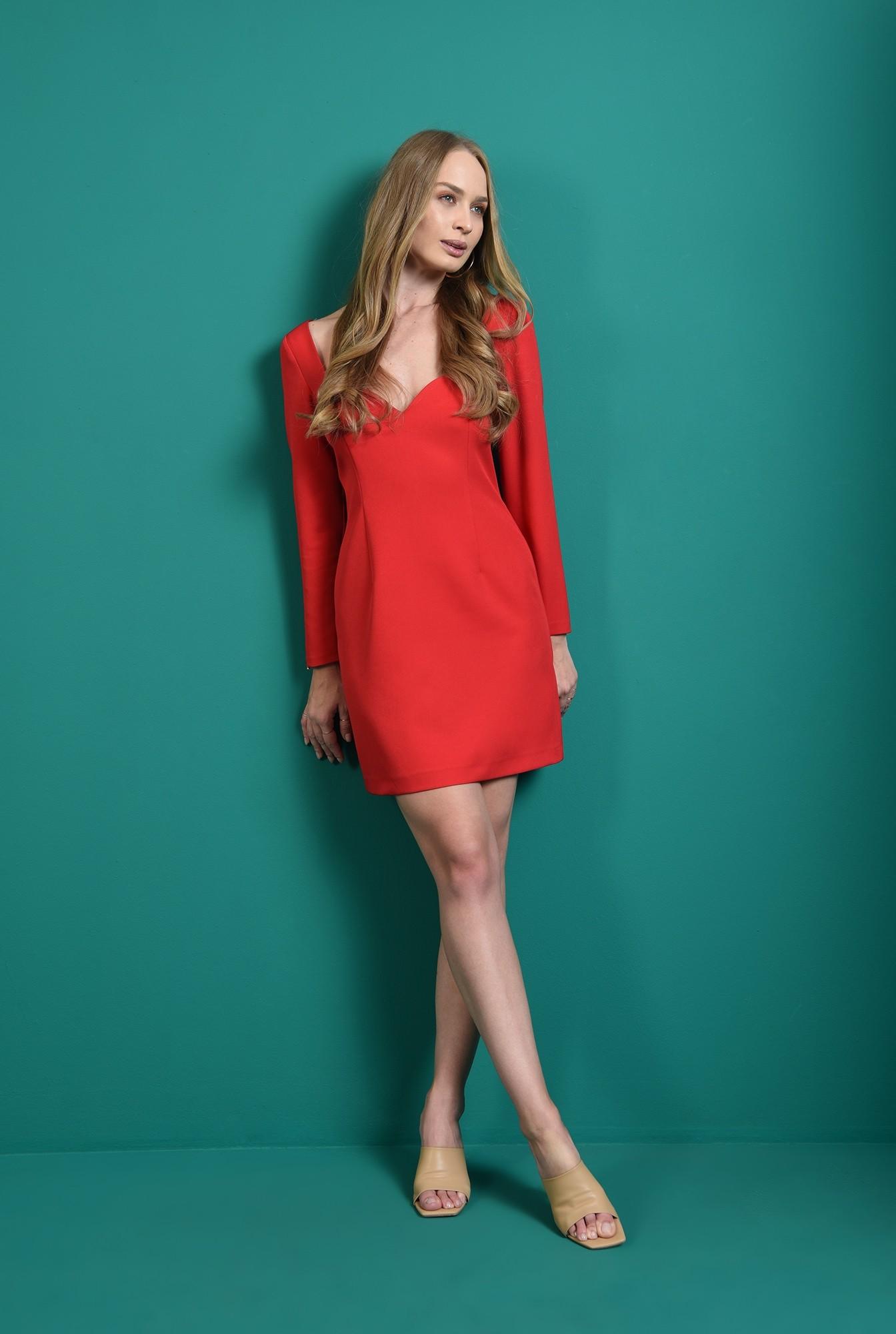1 - rochie rosie, cu decolteu inima, Poema