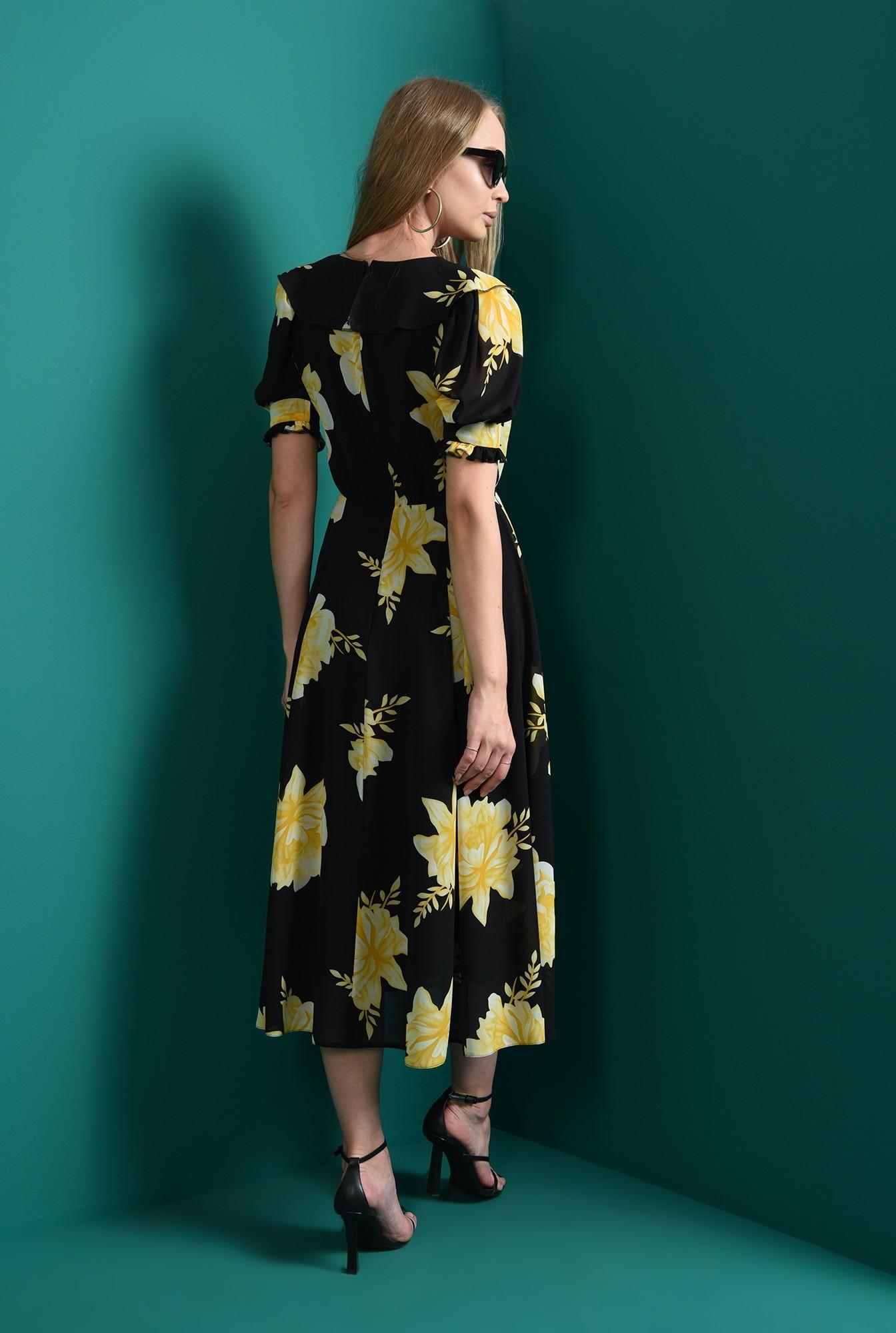 2 - rochie cu motive florale, evazata, Poema