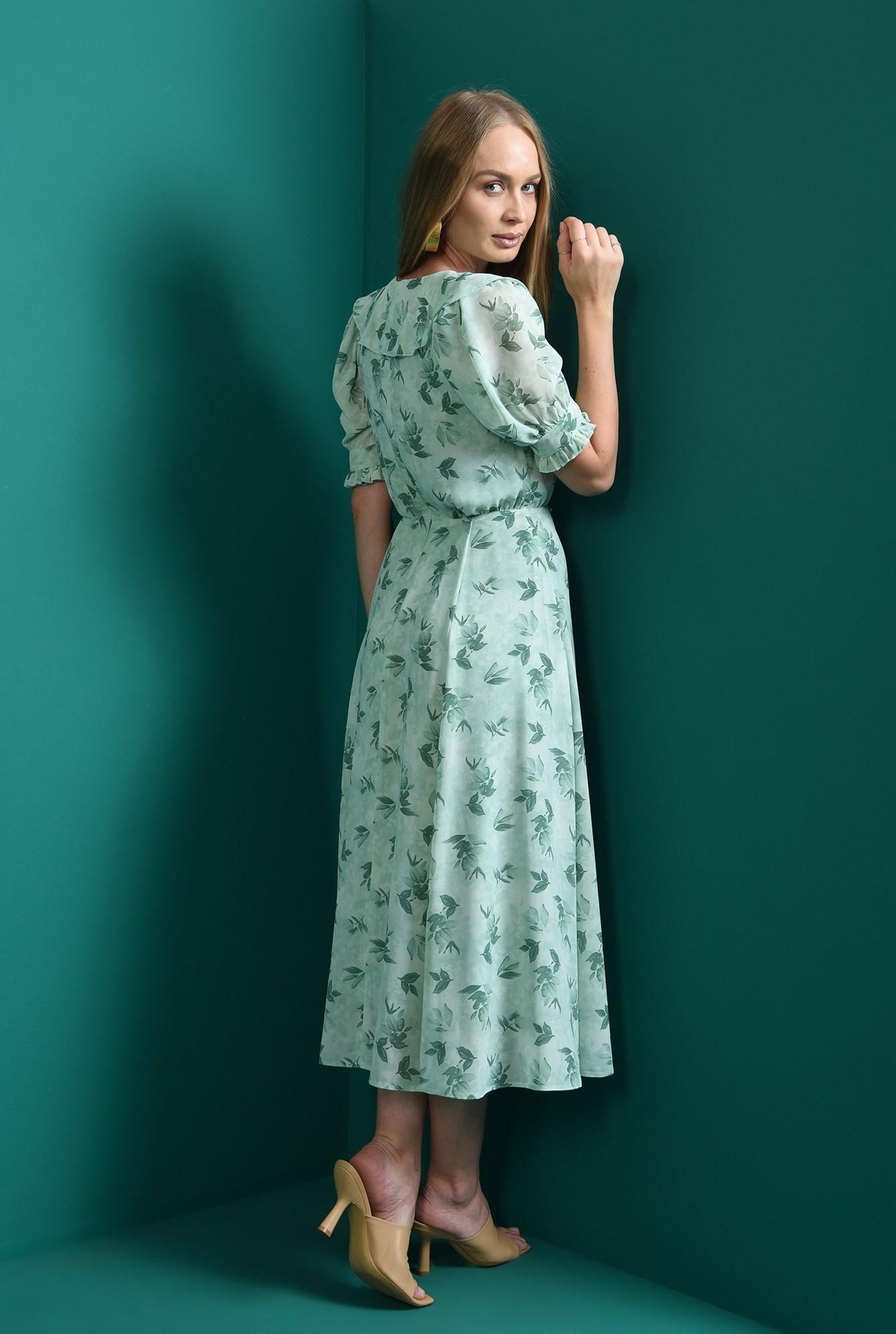 2 - rochie cu guler, cu motive florale, Poema