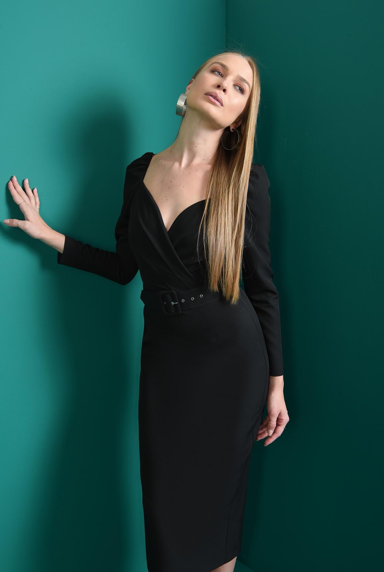 1 - rochie cu centura, neagra, Poema