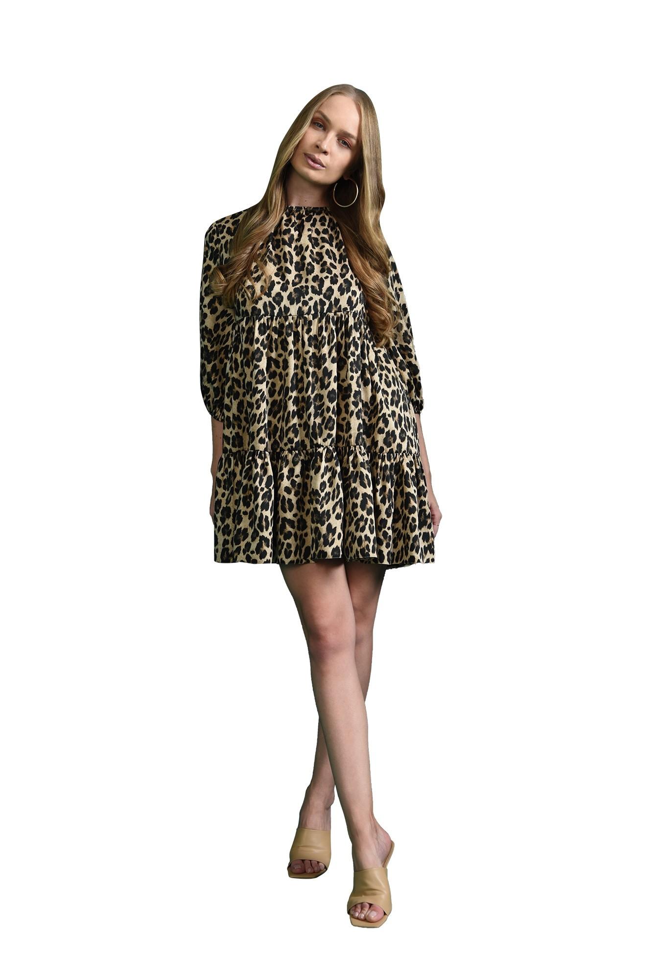 3 - rochie scurta, babydoll, cu imprimeu