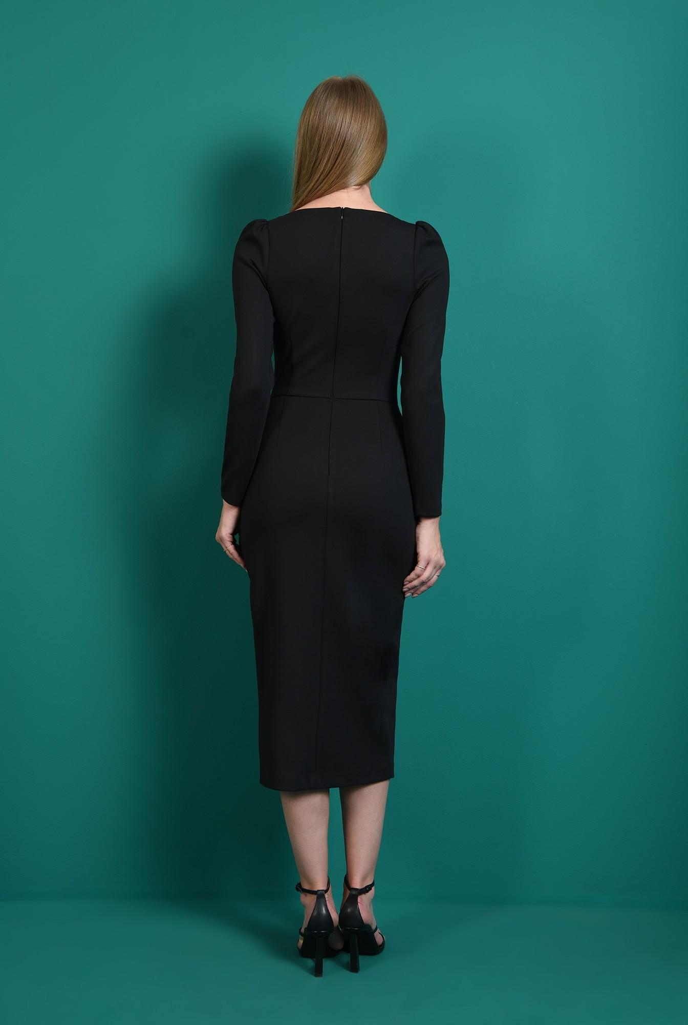 2 - rochie conica, neagra, cu slit
