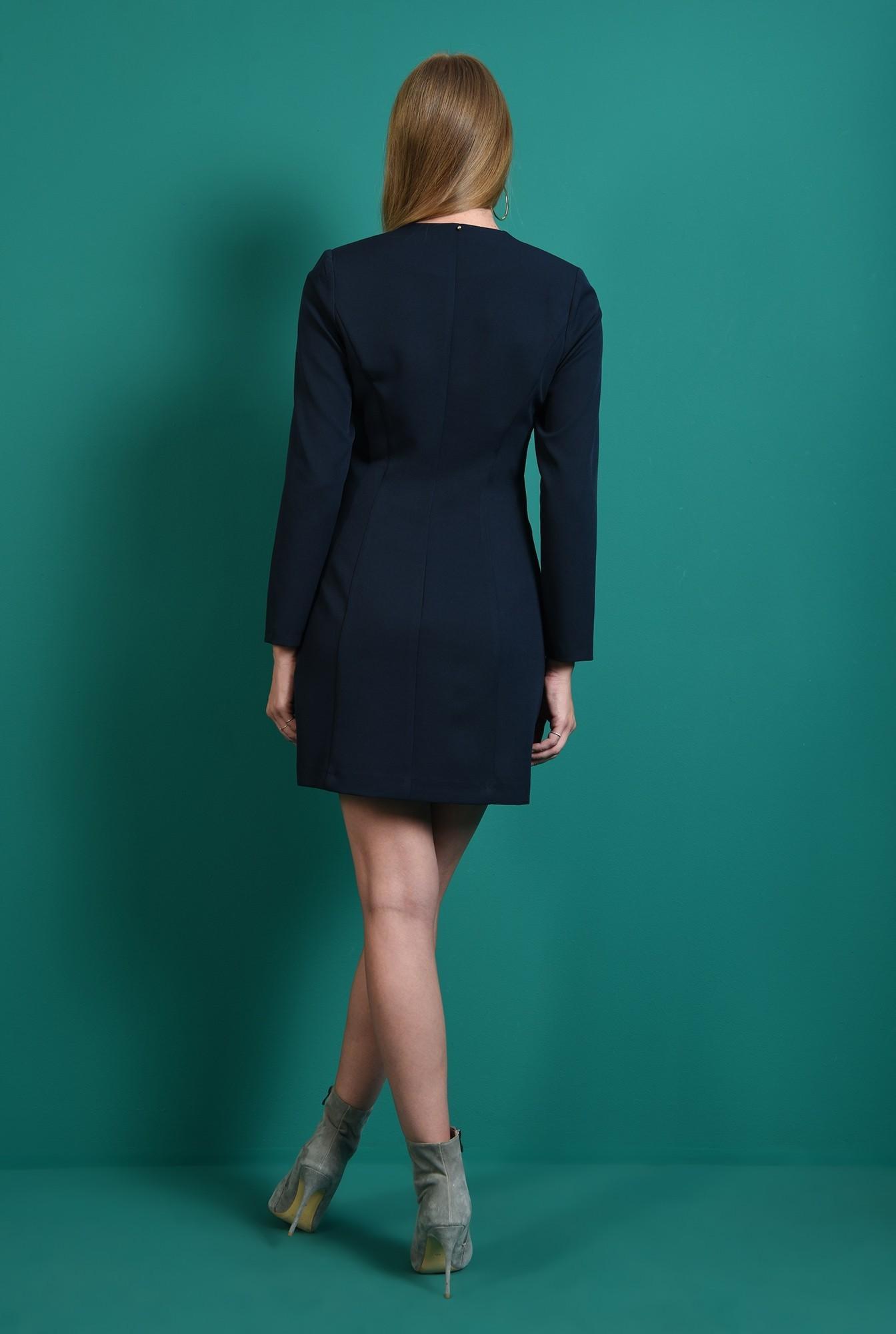 1 - rochie casual, bleumarin, tip sacou