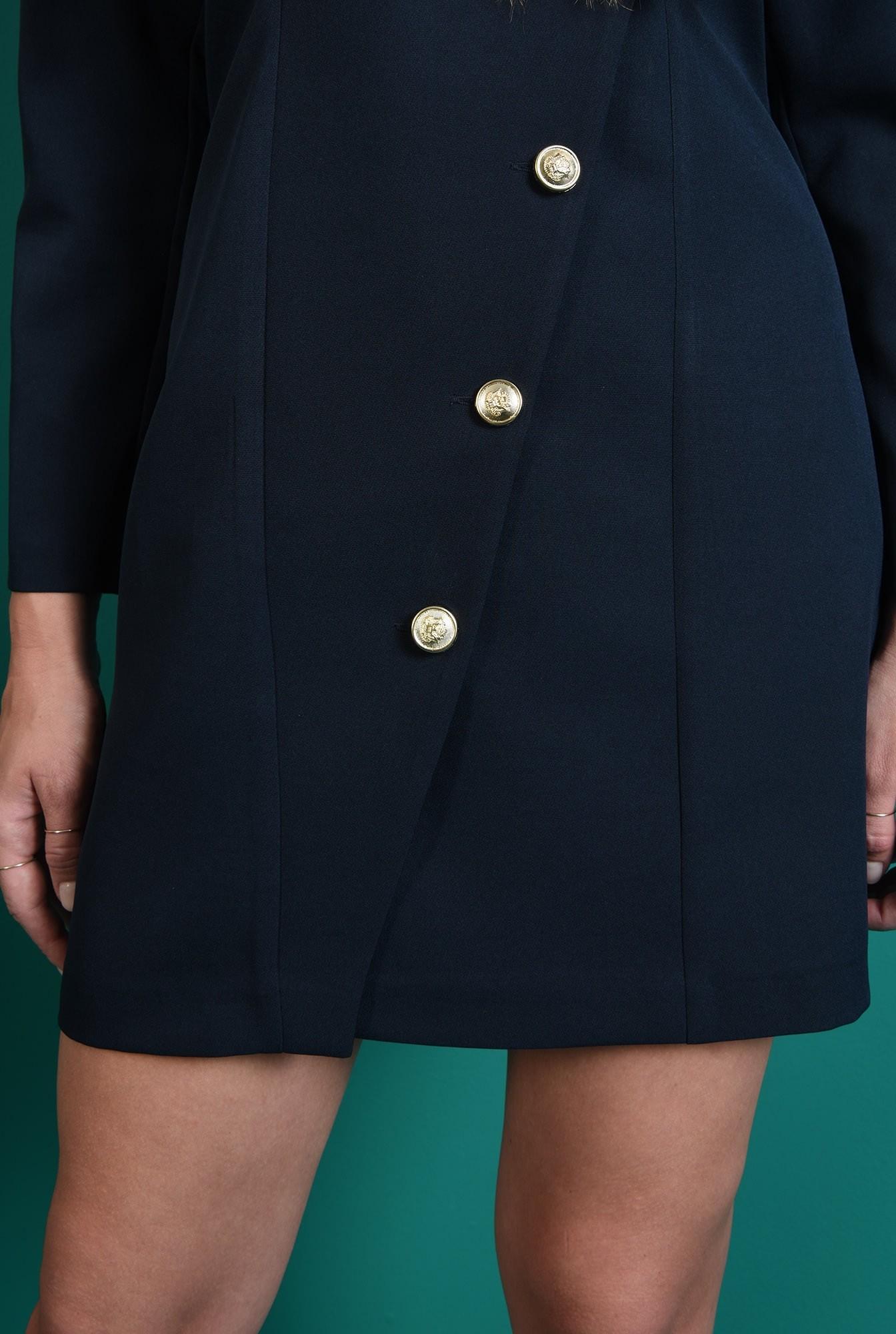 2 - rochie casual, bleumarin, tip sacou