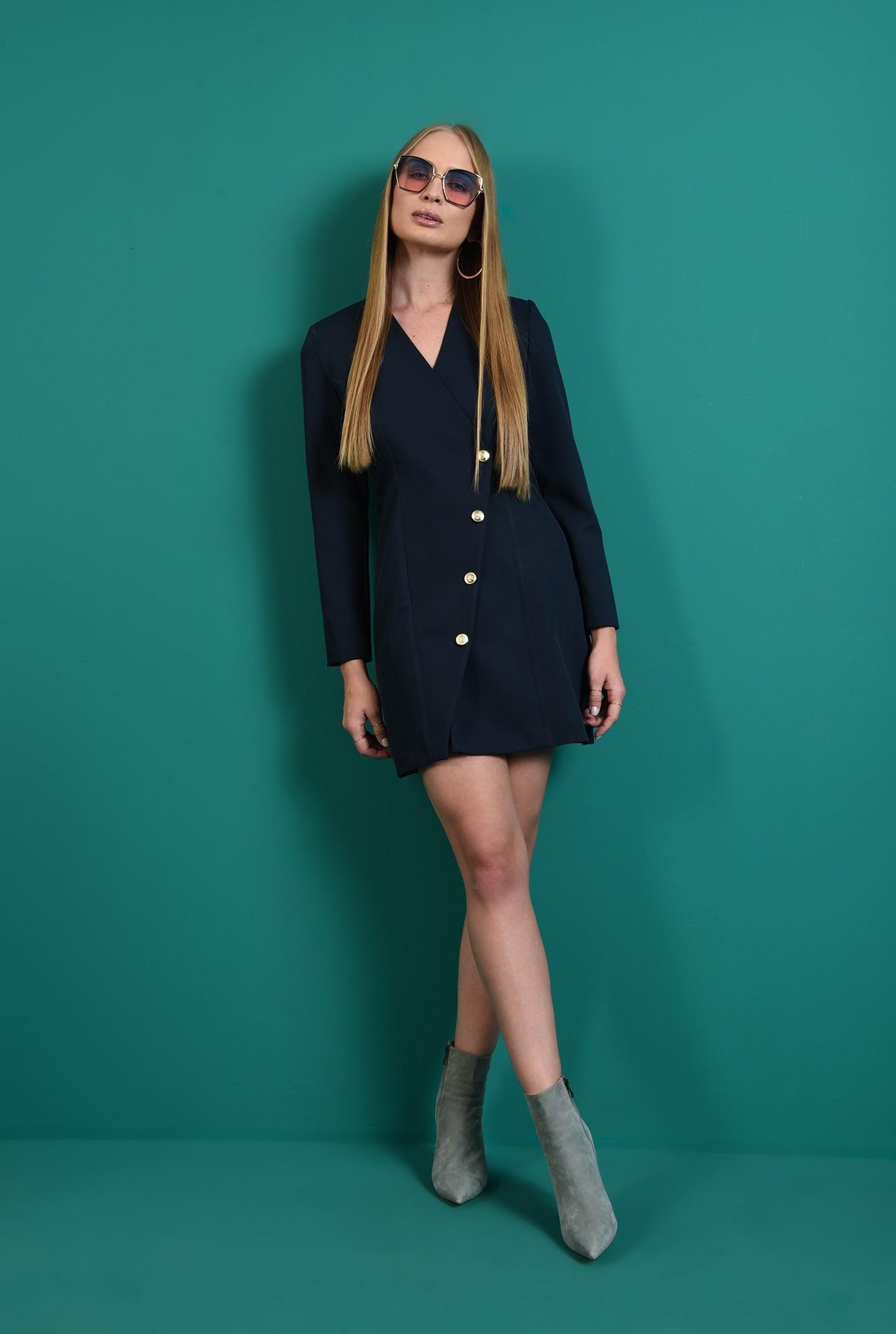 0 - rochie casual, bleumarin, tip sacou
