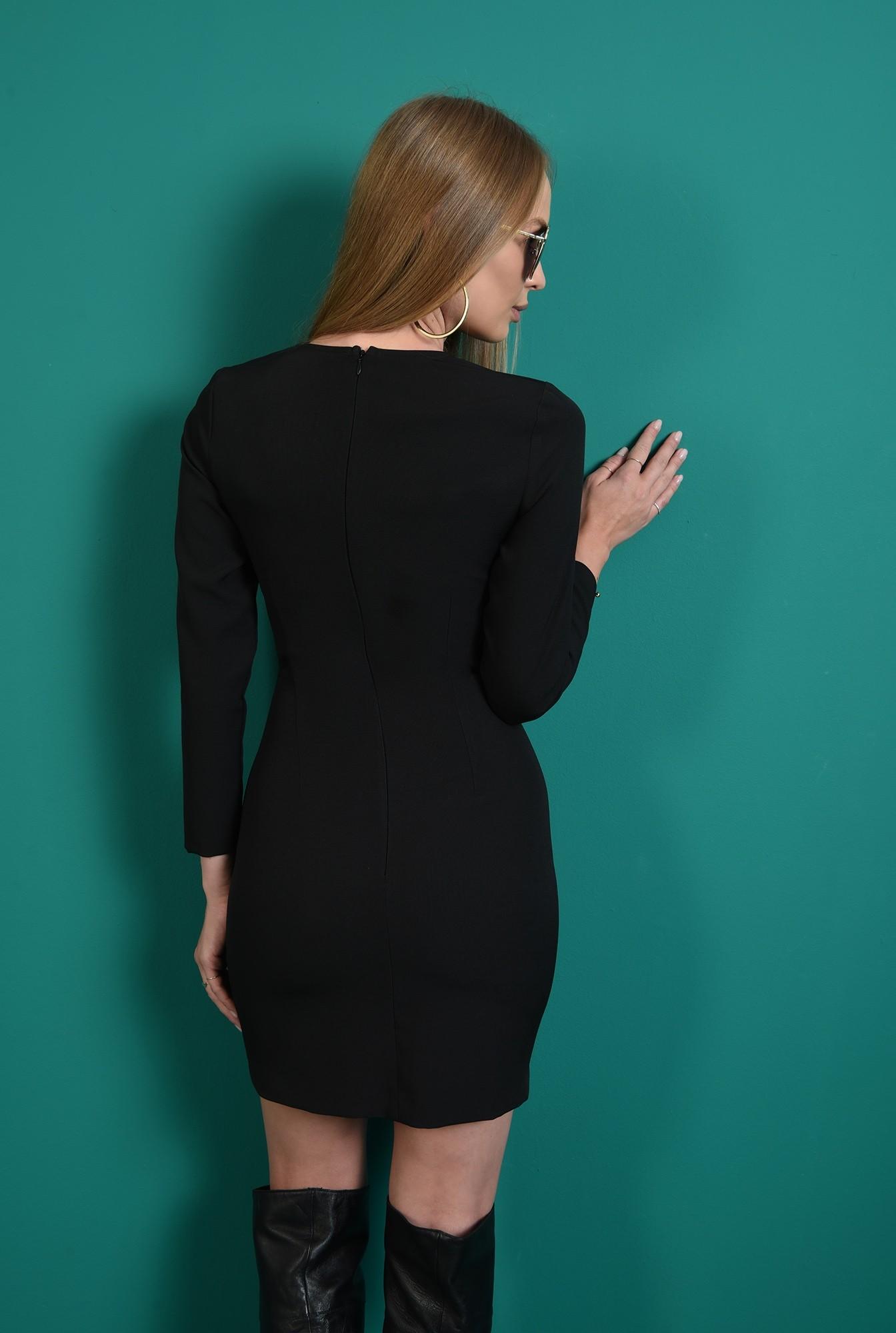 2 - rochie mini, neagra, cu decupaj, Poema