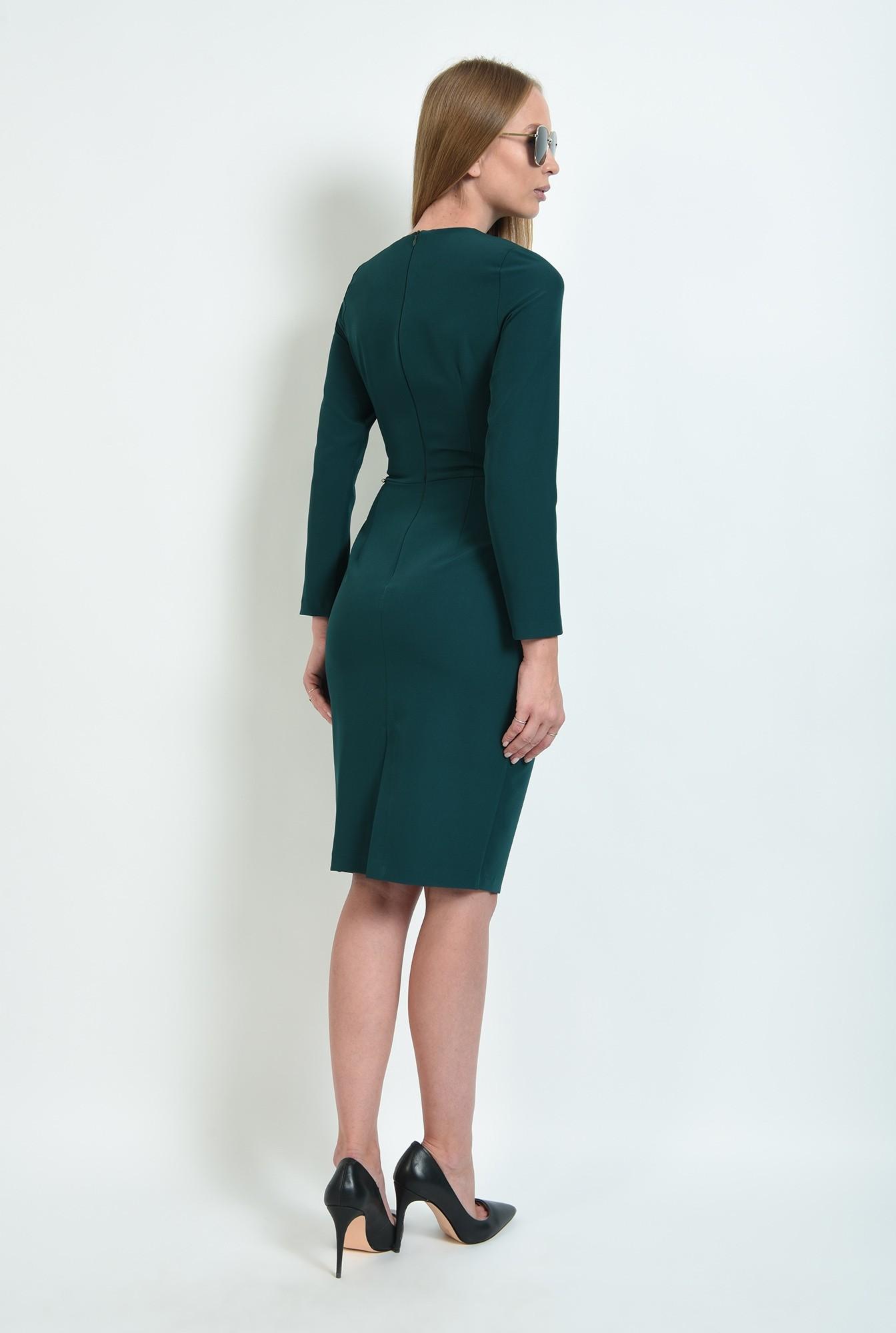 2 - rochie verde, office, cu pliuri, Poema