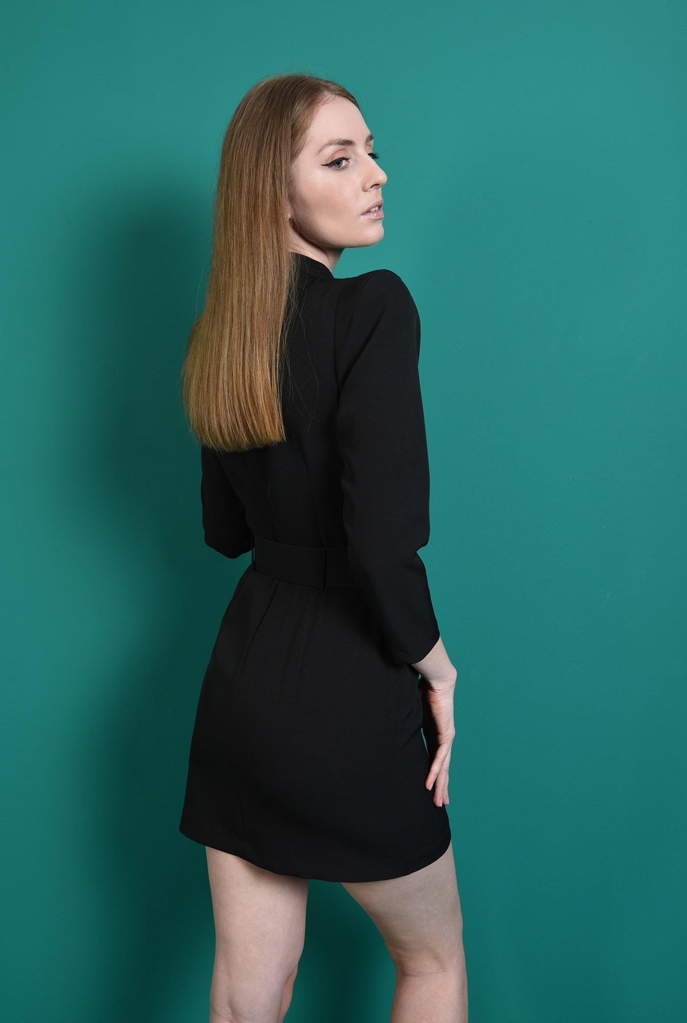 2 - rochie eleganta, neagra, cu centura din strasuri