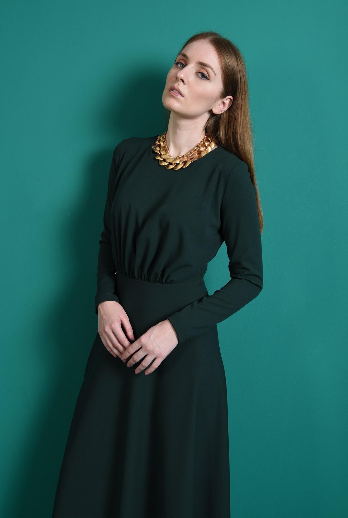 1 - rochie verde, casual, Poema