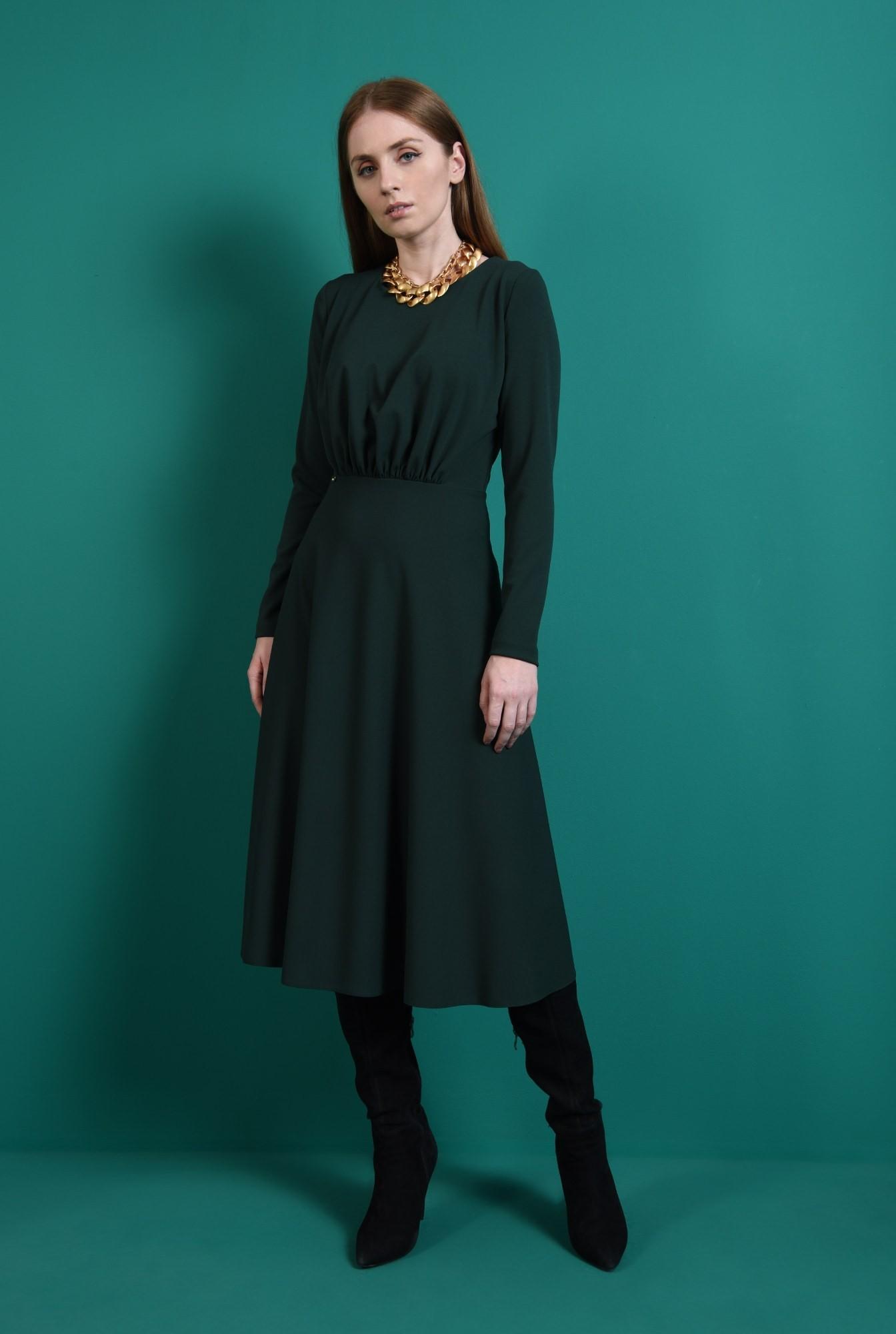 0 - rochie verde, casual, Poema