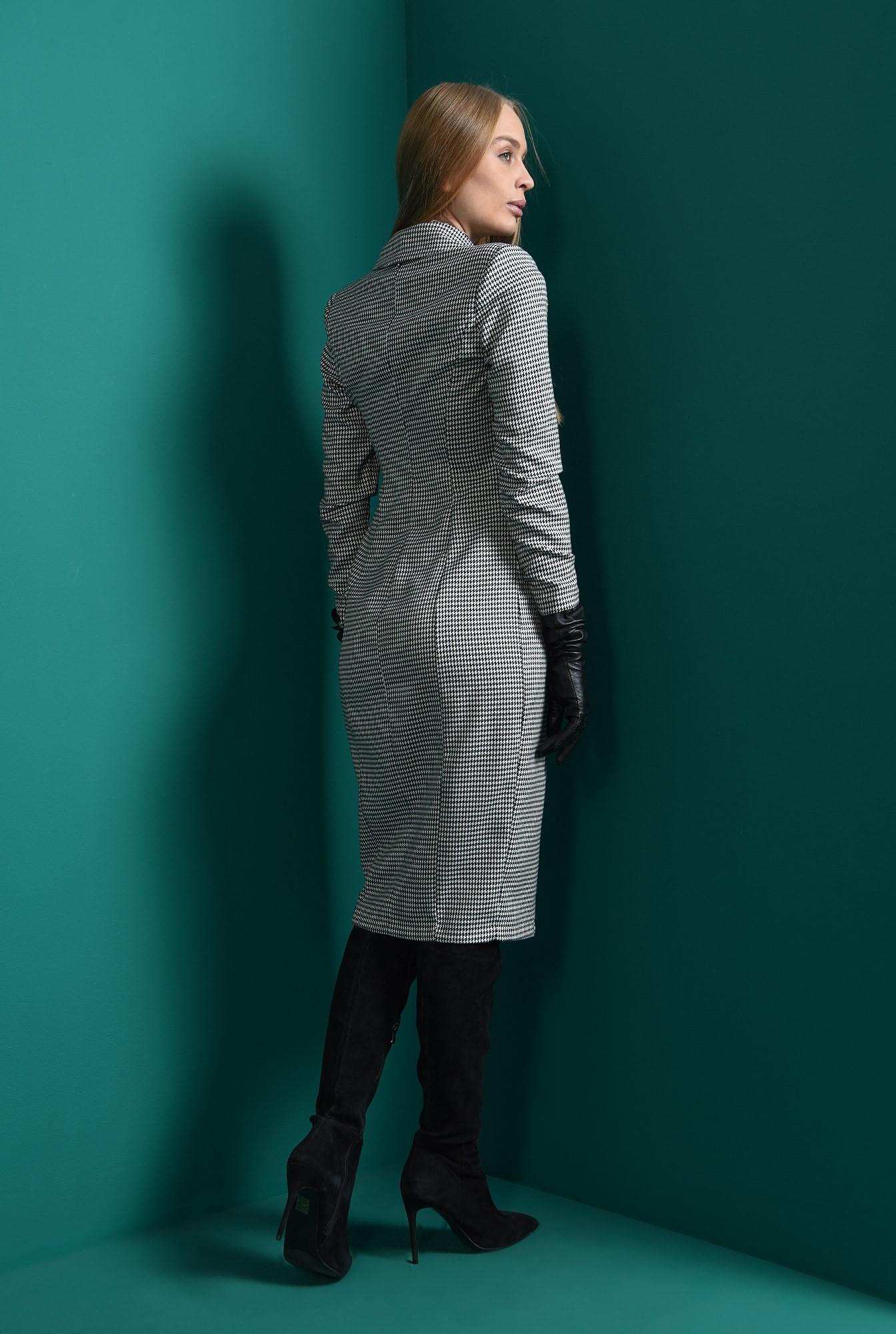 2 - rochie pepit, cu revere, cu nasturi