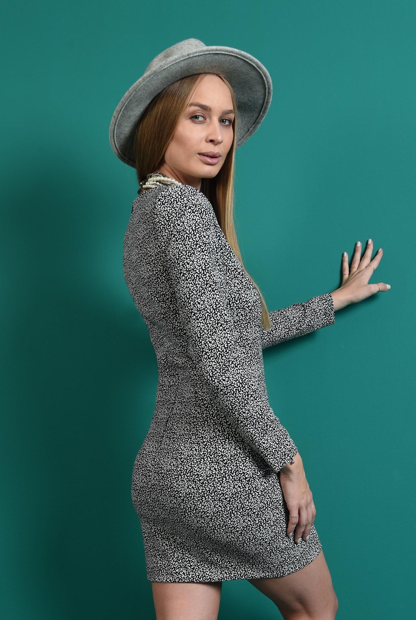 2 - rochie cu print, scurta, casual