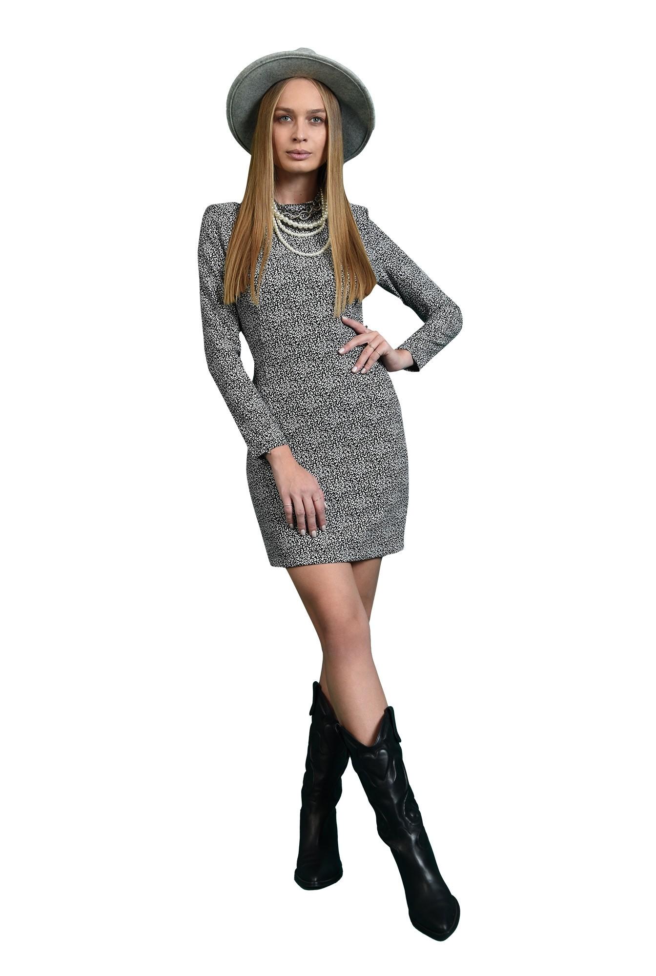 3 - rochie cu print, scurta, casual