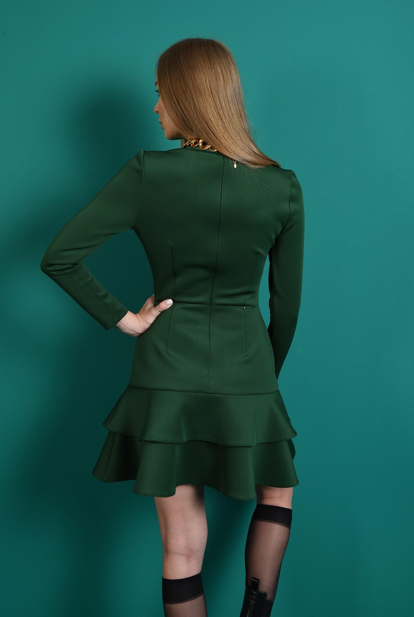 2 - rochie casual, mini, cu volane, cu guler