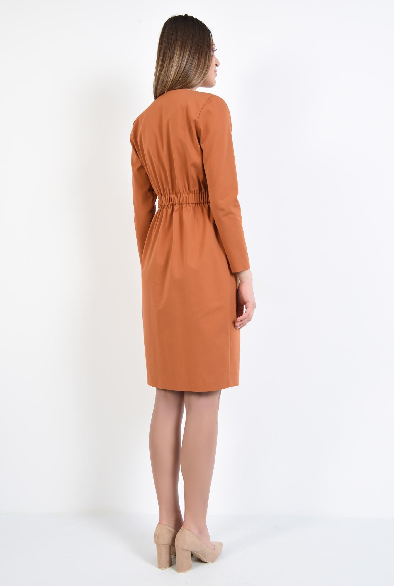 1 - rochie office, caramizie, anchior, doua randuri de nasturi