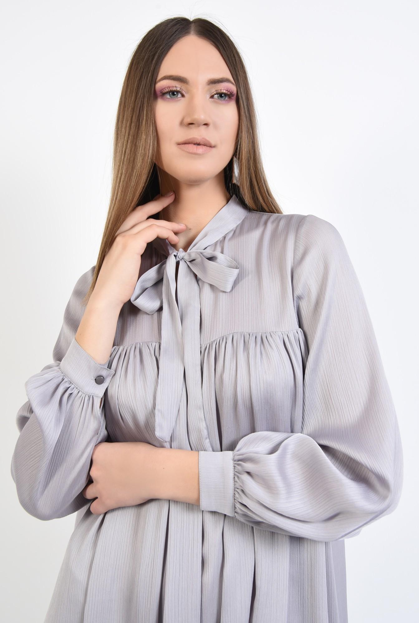 2 - 360 - rochie eleganta, scurta, babydoll, cu maneci bufante lungi, funda