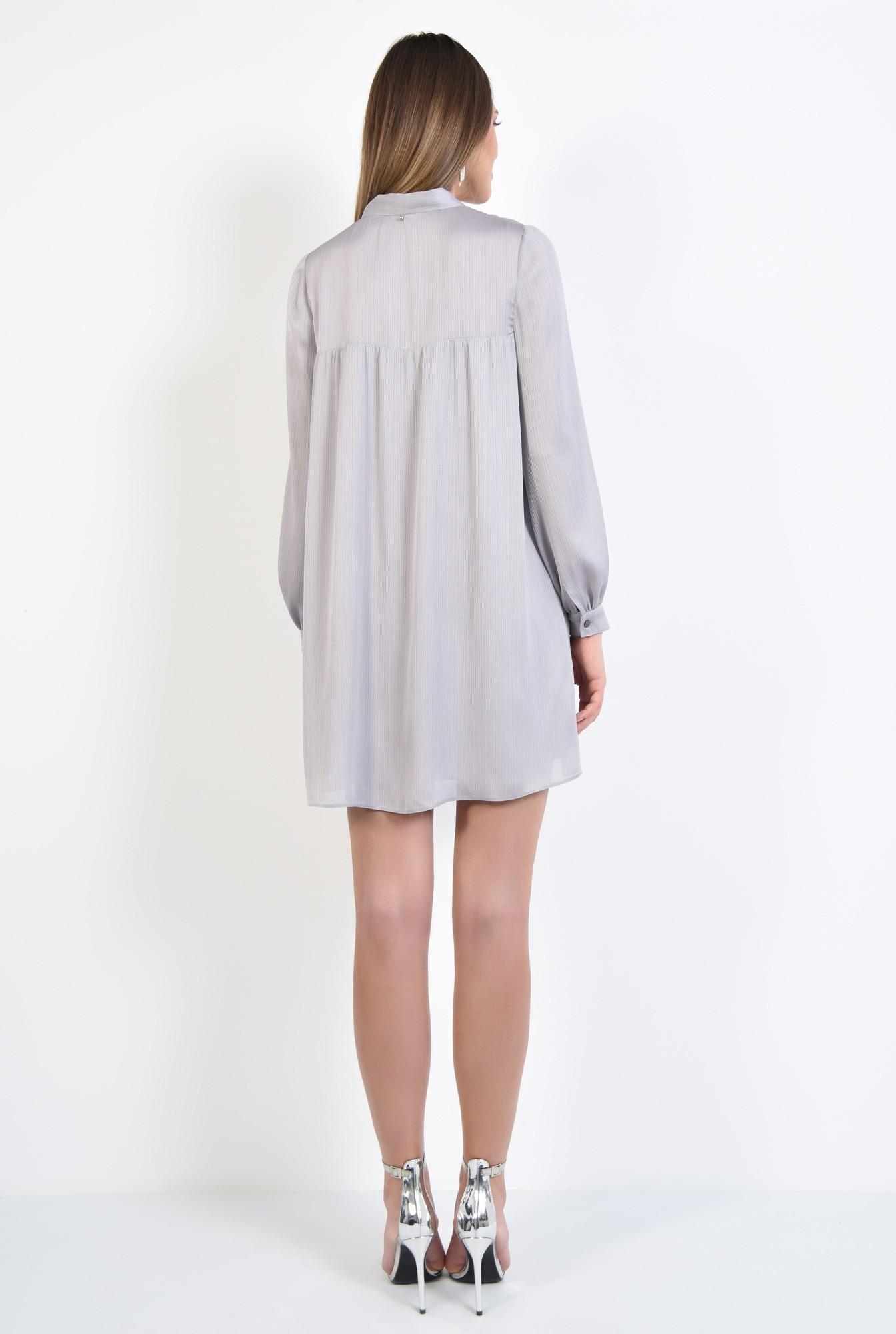1 - 360 - rochie eleganta, scurta, babydoll, cu maneci bufante lungi, funda