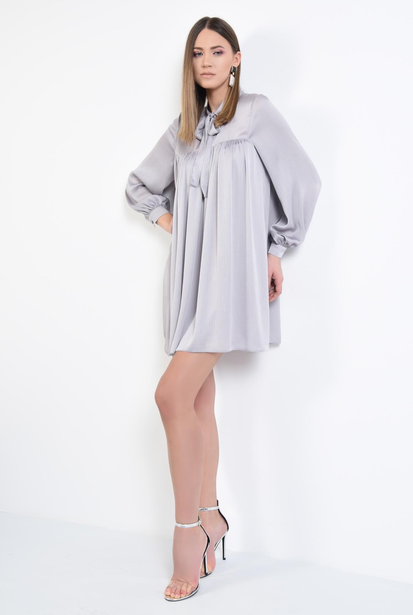 0 - 360 - rochie eleganta, scurta, babydoll, cu maneci bufante lungi, funda