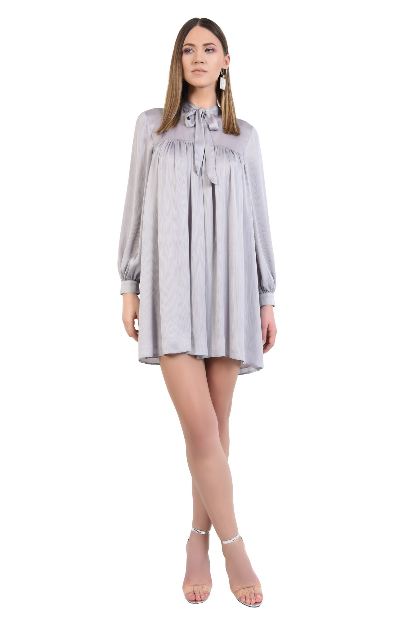 3 - 360 - rochie eleganta, scurta, babydoll, cu maneci bufante lungi, funda