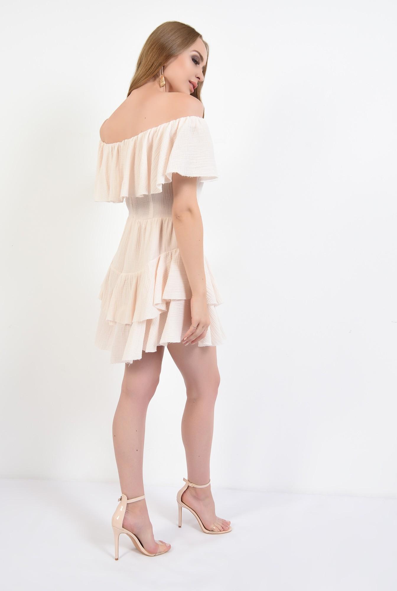 1 - rochie mini, asimetrica, din bumbac, Poema