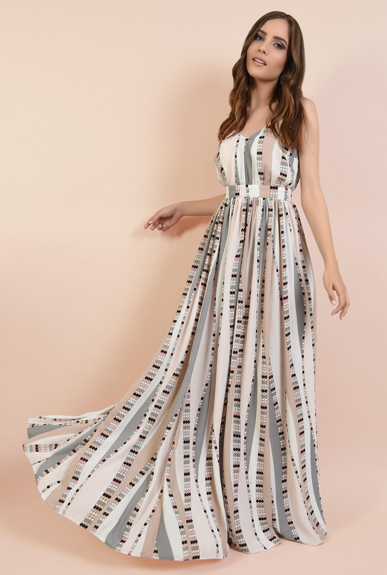 0 - 360 - rochie de ocazie, lunga, cu bretele, croi evazat, talie cu betelie, Poema