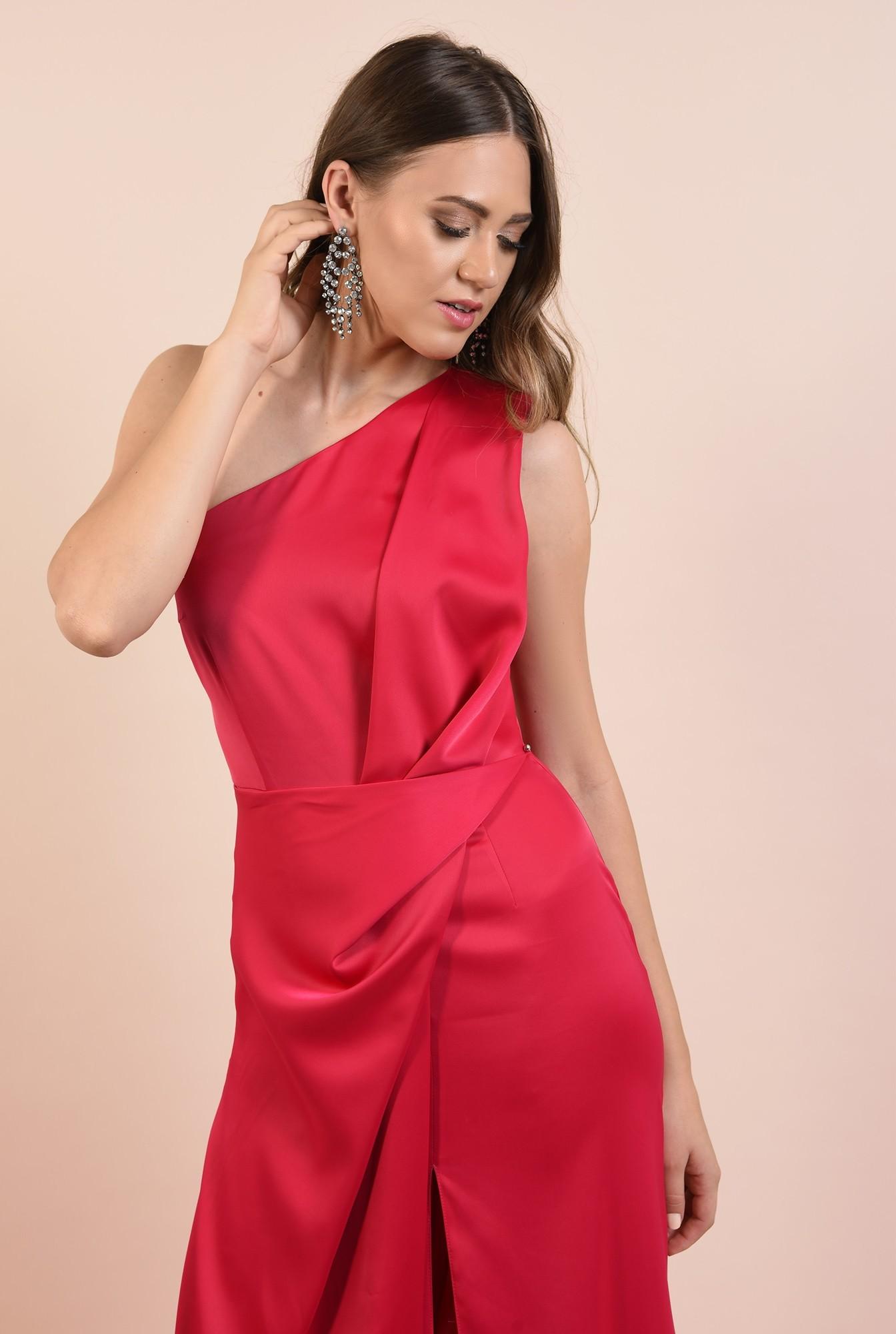 2 - rochie eleganta, lunga, cu slit adanc, cusatura in talie