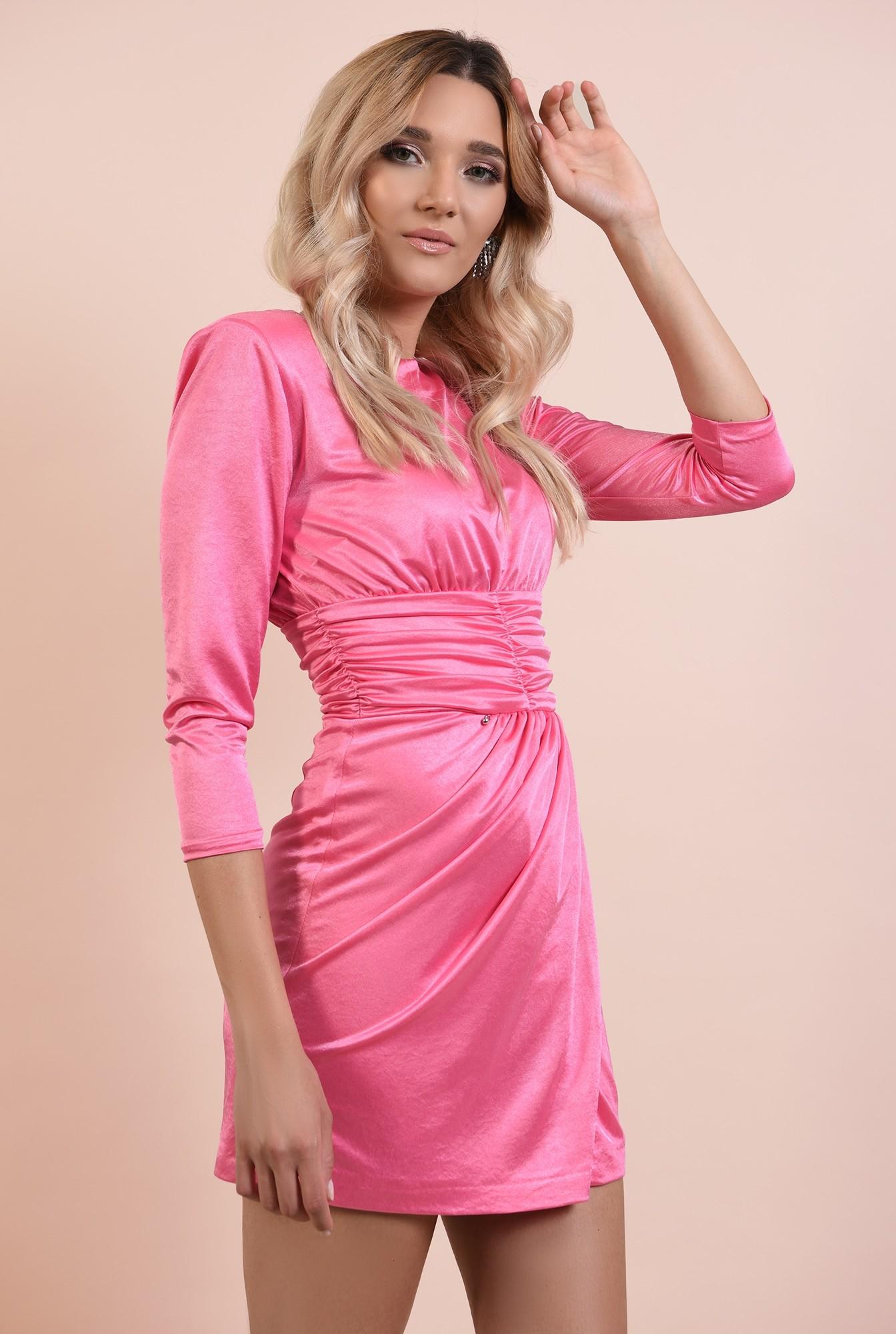 2 - 360 - rochie eleganta, scurta, drapata, decolteu la baza gatului, Poema