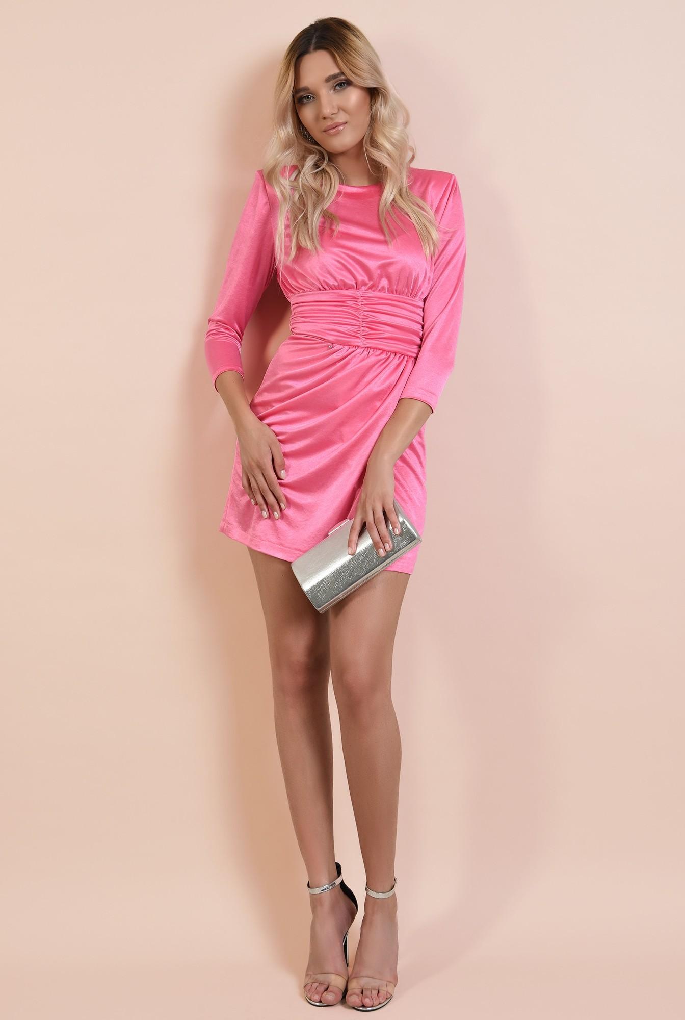 3 - 360 - rochie eleganta, scurta, drapata, decolteu la baza gatului, Poema