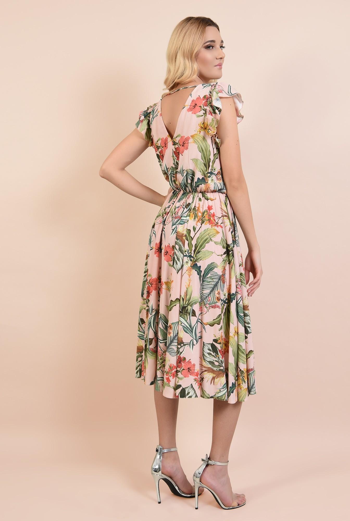 1 - 360 - rochie eleganta, midi, clos, cu volane, anchior, Poema