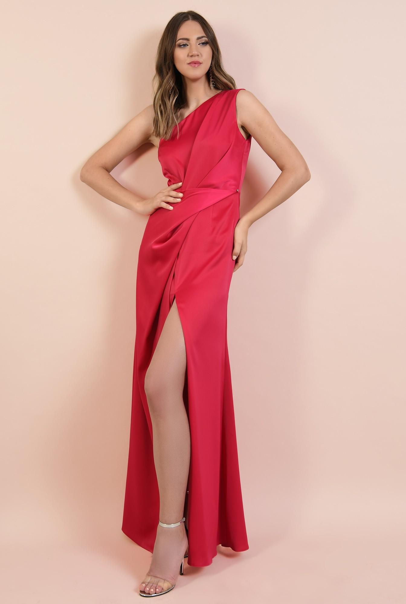 3 - rochie eleganta, lunga, cu slit adanc, cusatura in talie