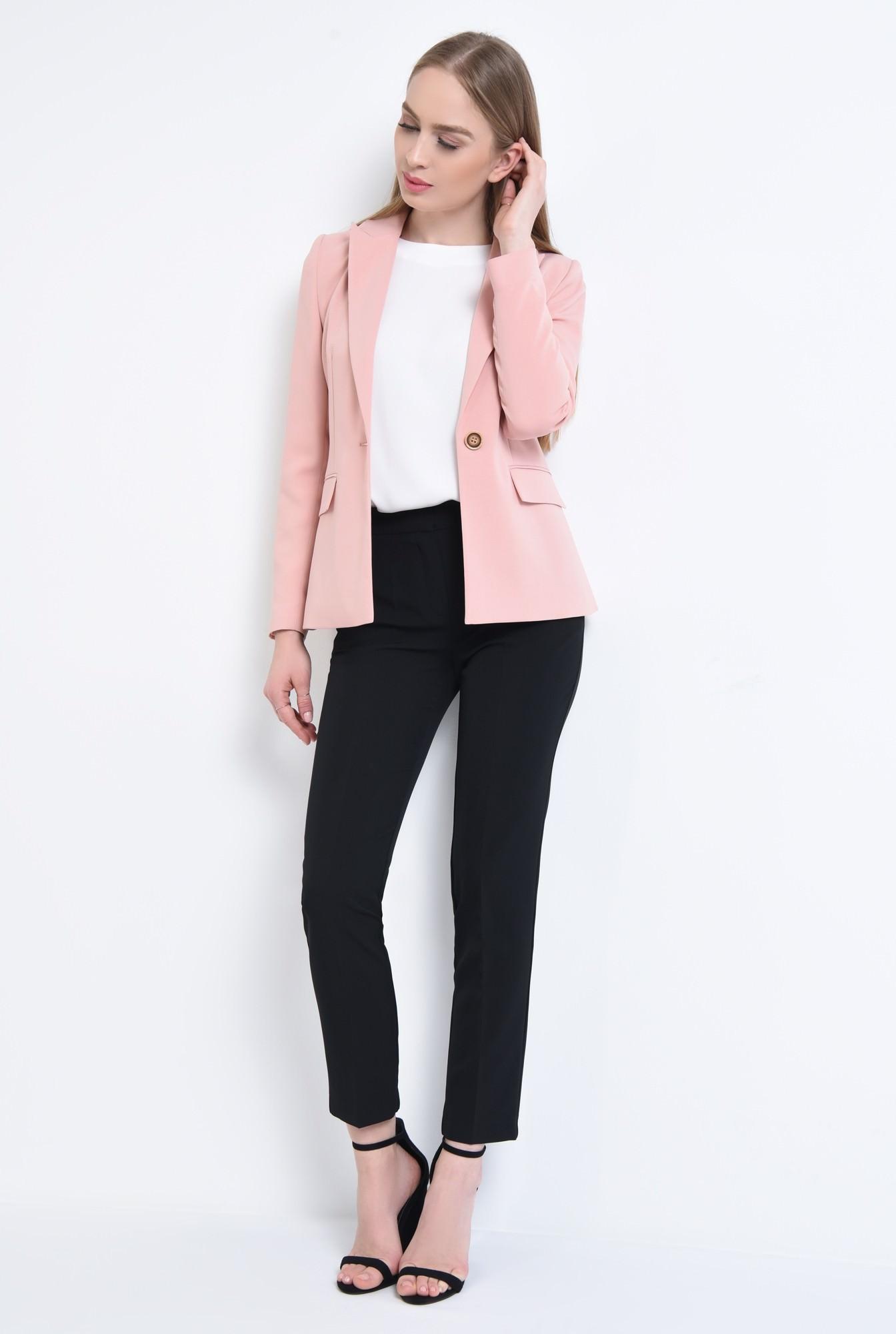 3 - Sacou casual, roz, tesatura texturata