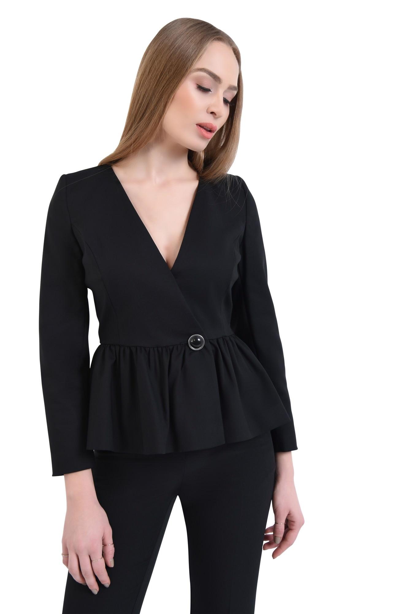 0 - Sacou casual, negru