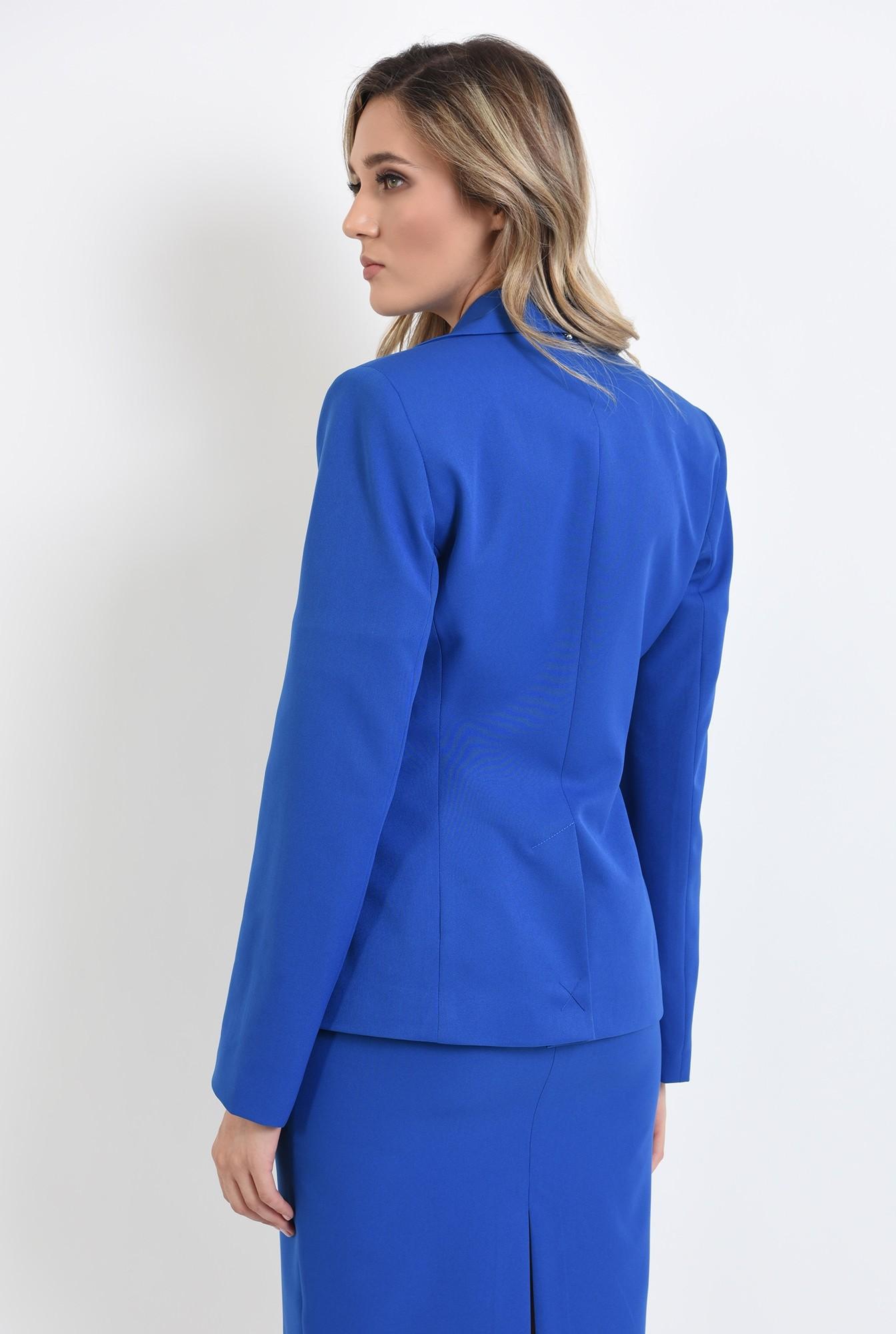 1 - 360 - sacou casual, albastru, cu maneca lunga