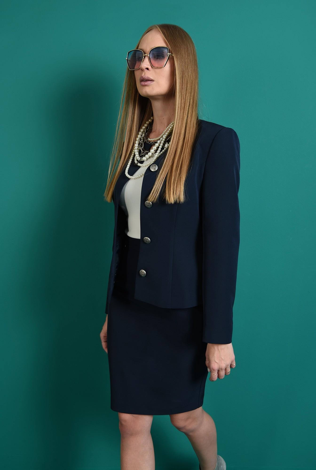 1 - fusta bleumarin, office, cu croi drept