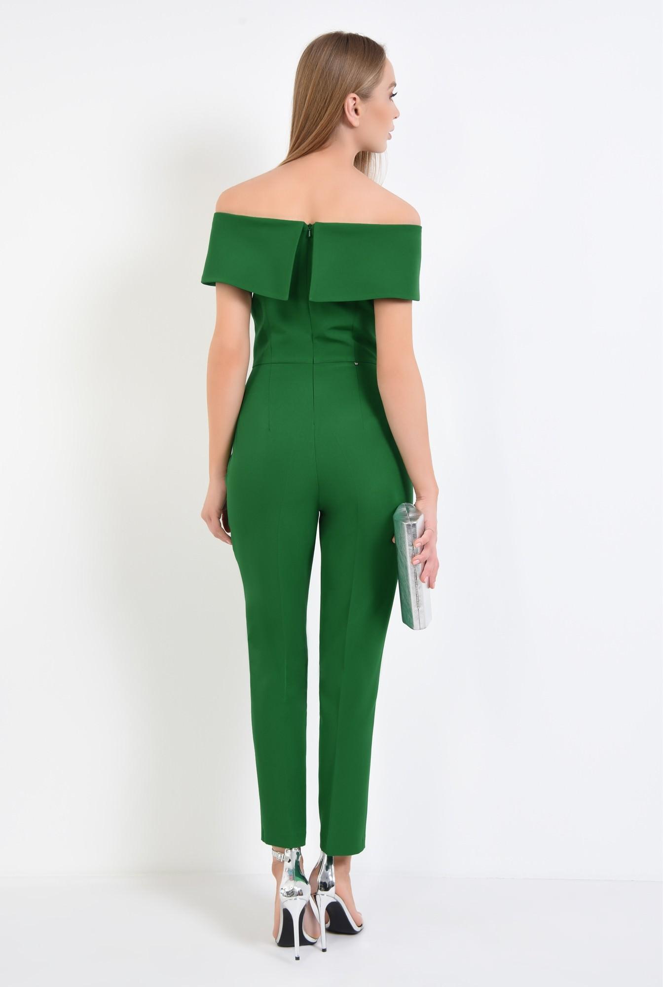 1 - salopeta eleganta, verde, brosa, umeri goi