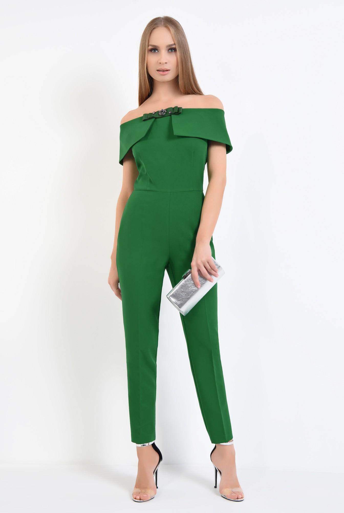 3 - salopeta eleganta, verde, brosa, umeri goi