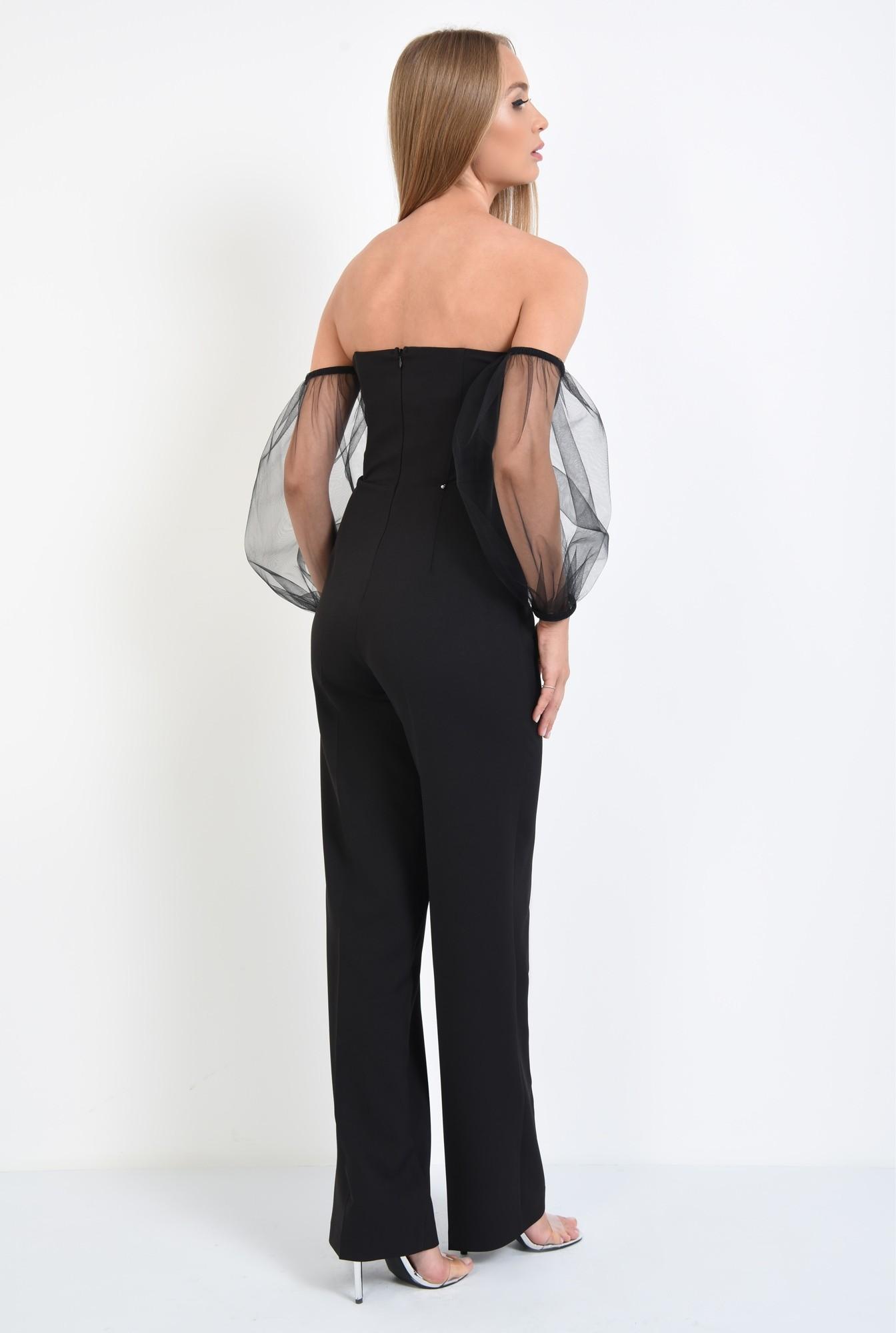 1 - salopeta eleganta, maneci tul, corset, centura decorativa