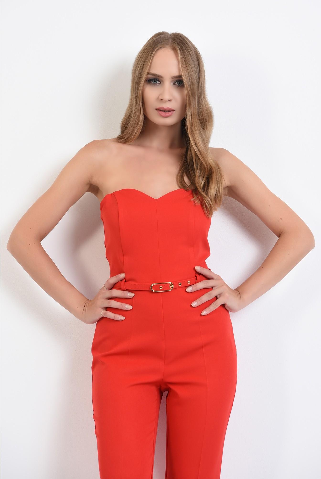 2 -  salopeta lunga, eleganta, rosie, cu corset, curea