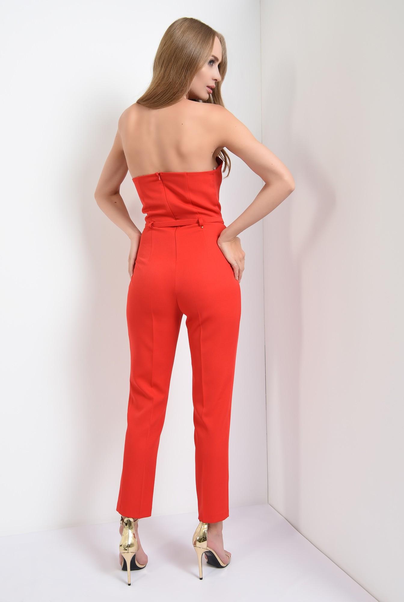 1 -  salopeta lunga, eleganta, rosie, cu corset, curea